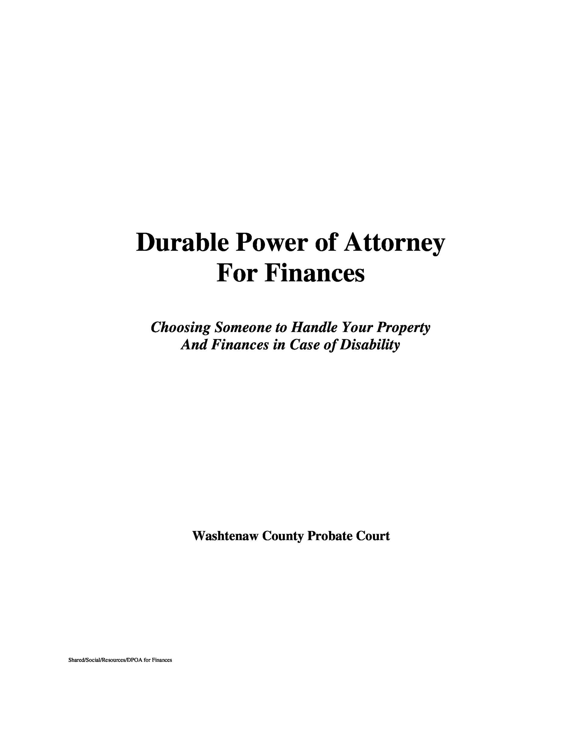 50 Free Power Of Attorney Forms Templates Durable Medicalgeneral