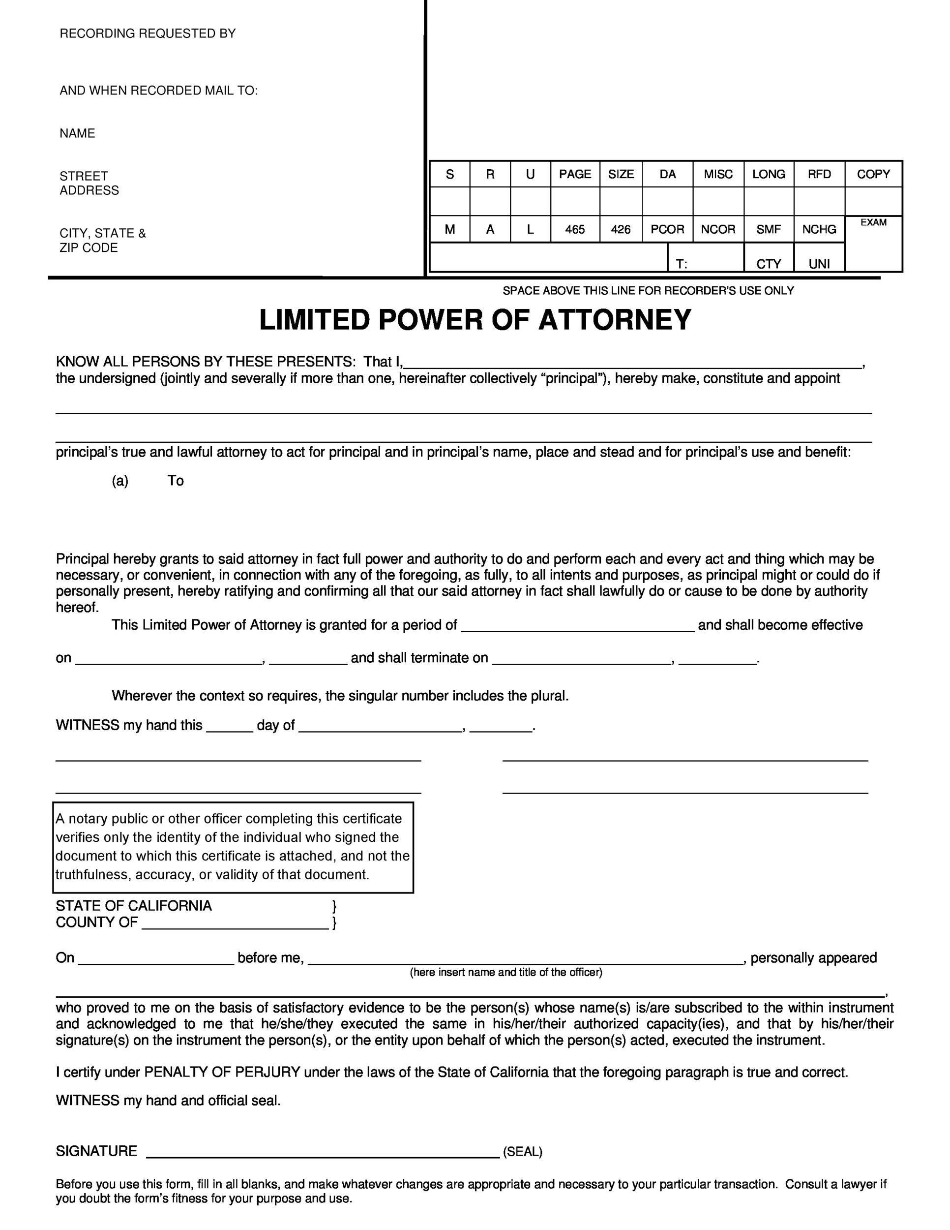 Free power of attorney 26