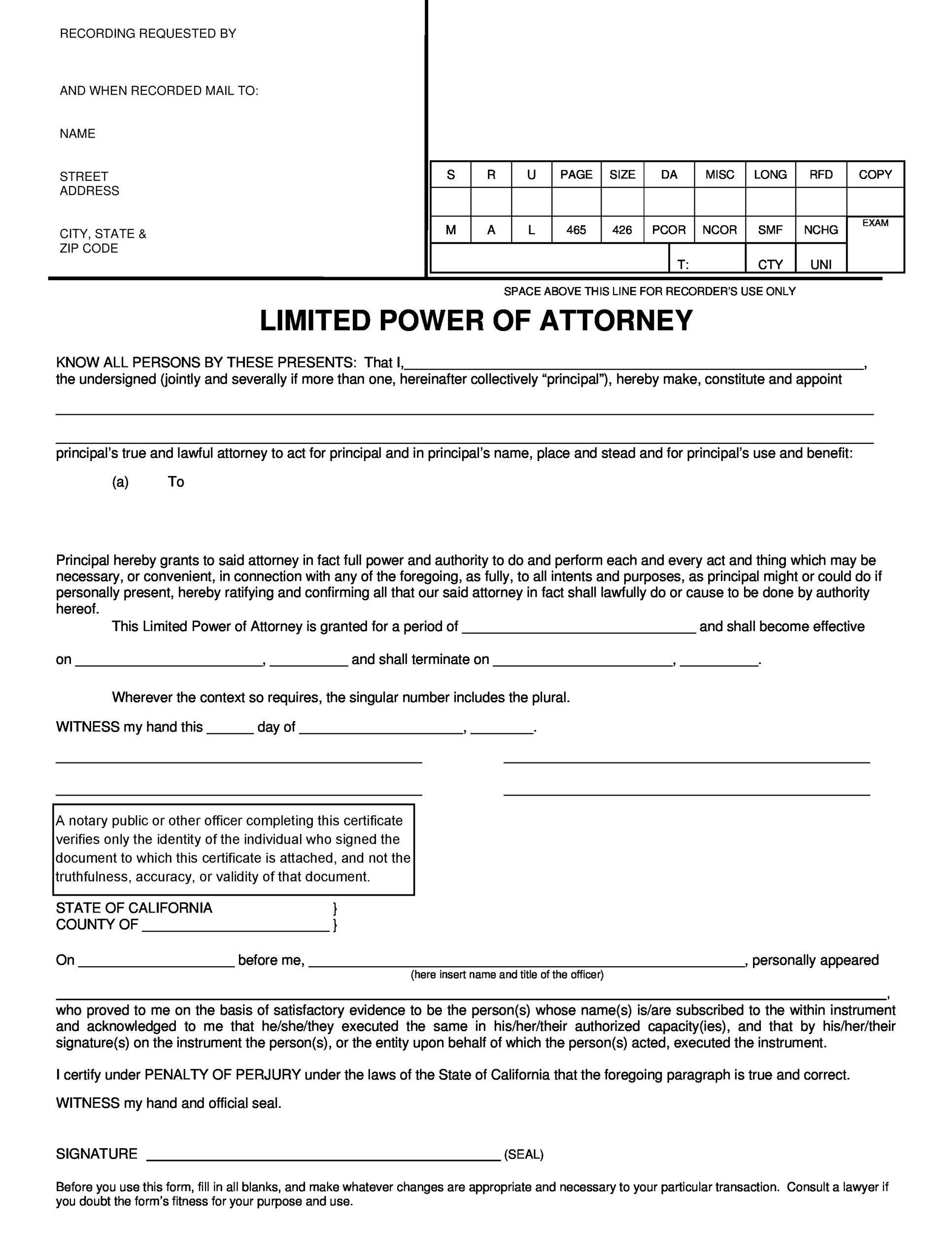 Free power of attorney 26