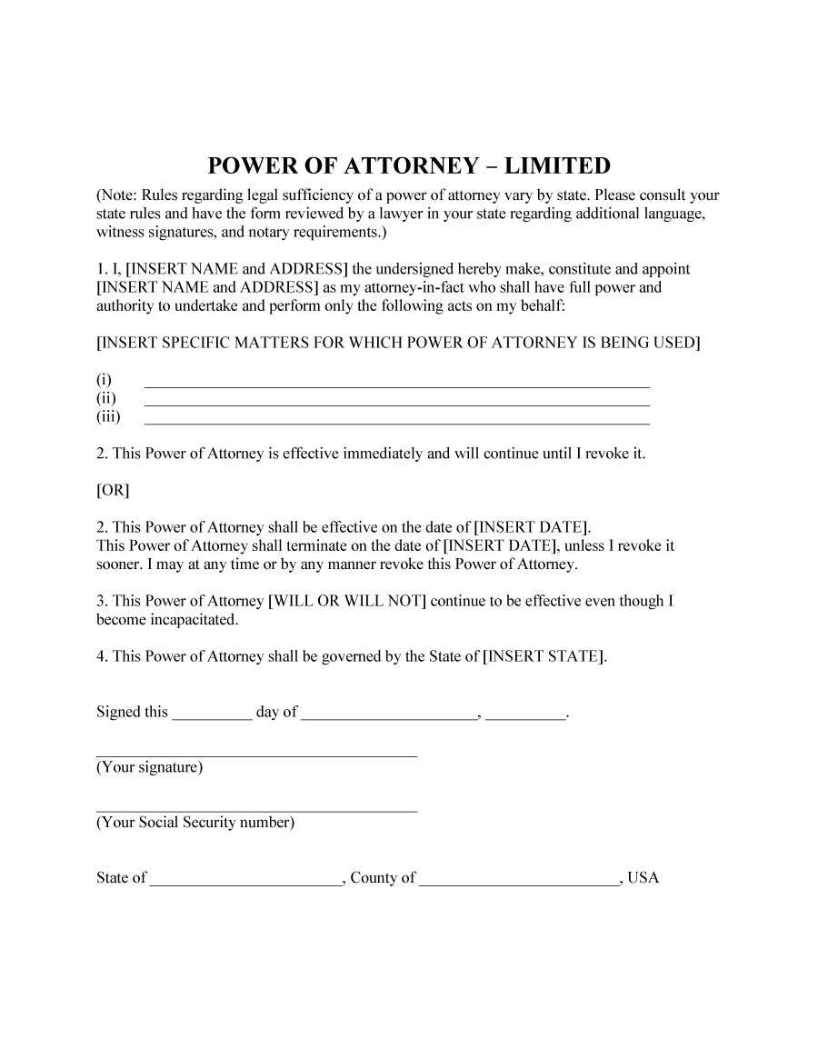 Free power of attorney 39