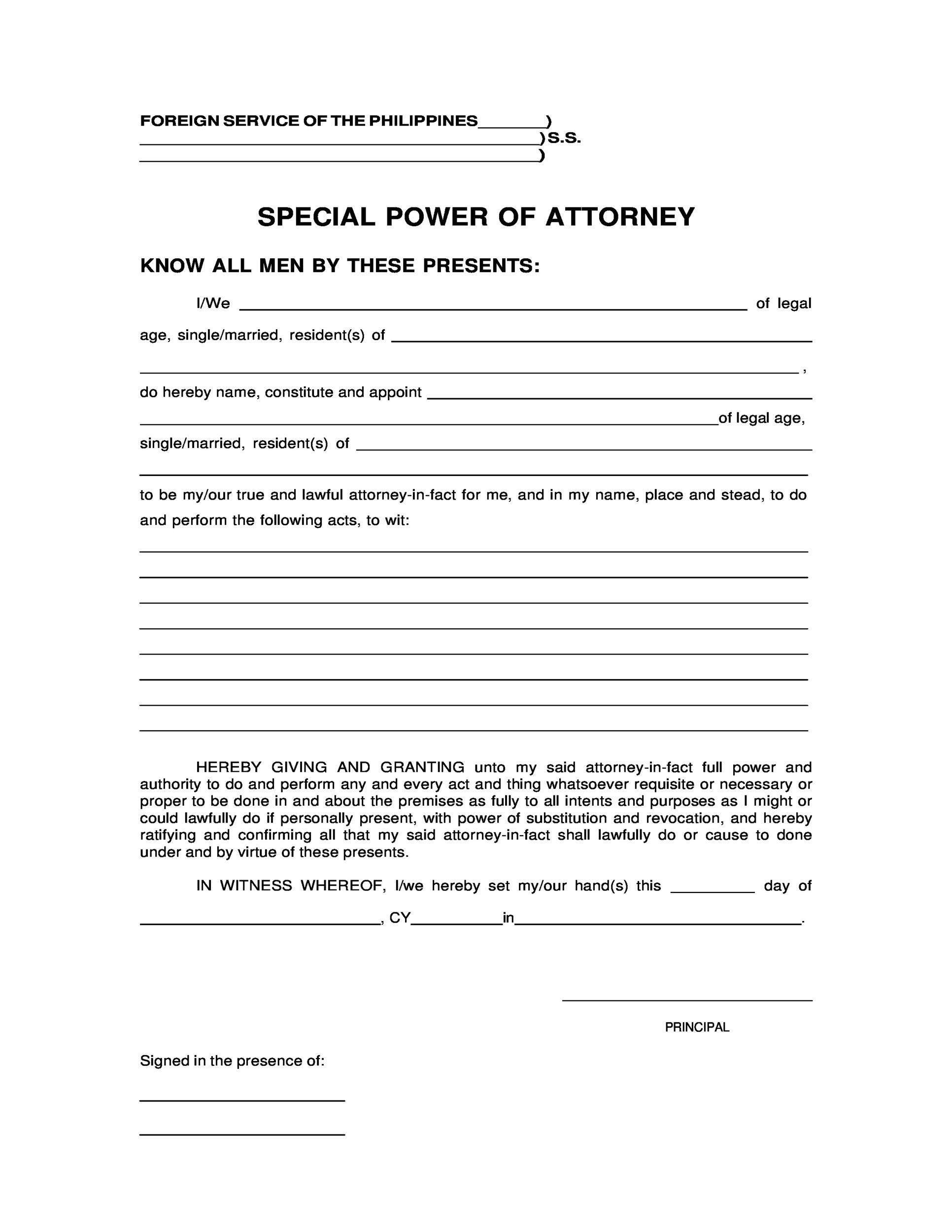 Free power of attorney 40