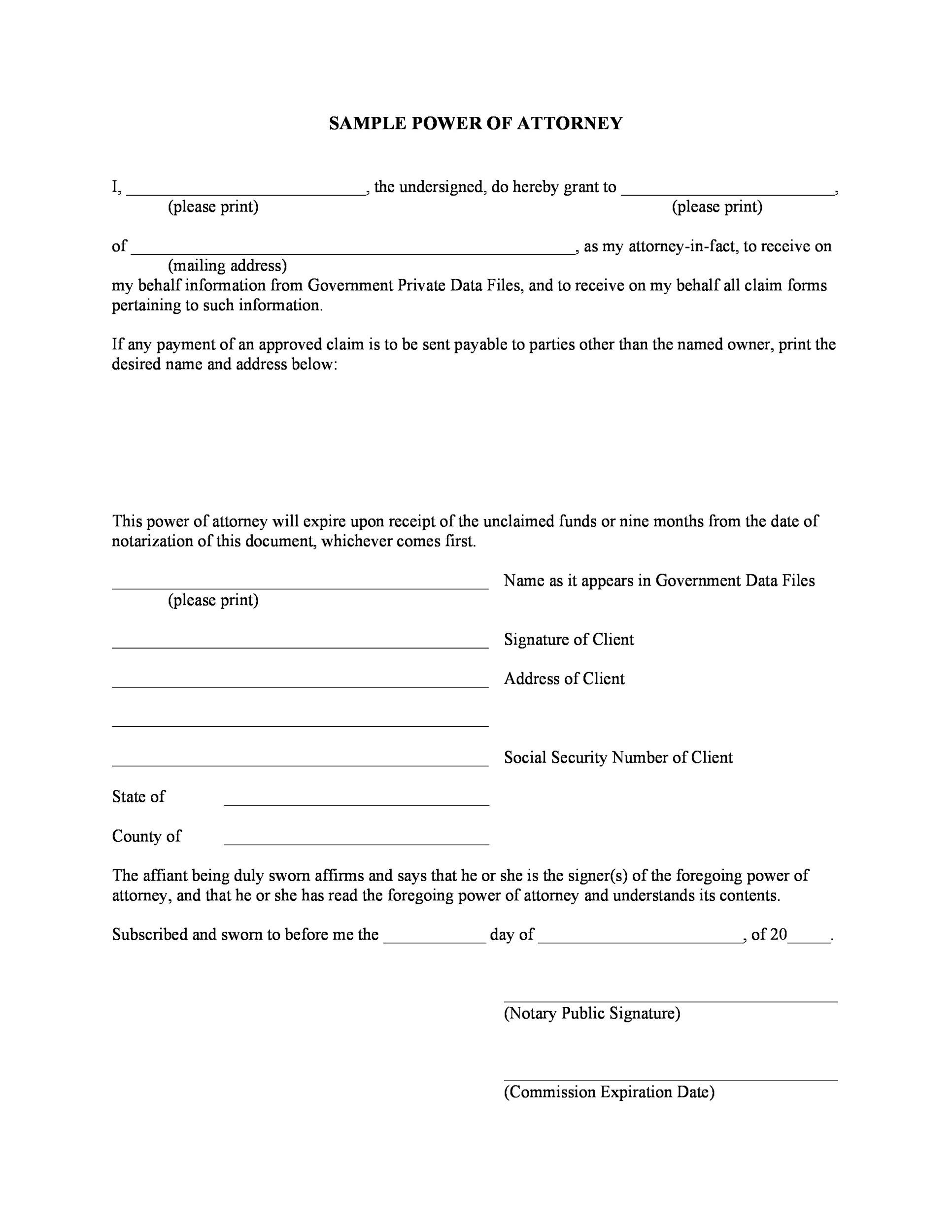 Free Power Of Attorney Forms  Templates Durable MedicalGeneral