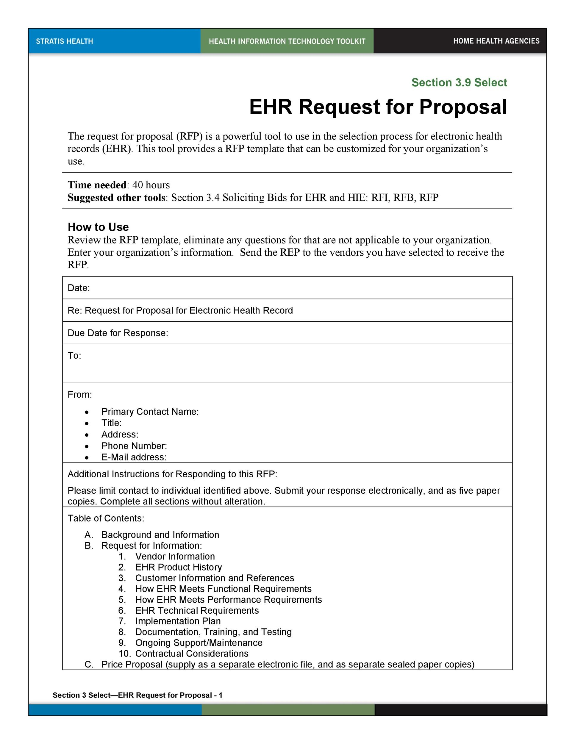 40 Best Request for Proposal Templates Examples RPF Templates – Simple Proposal Template Example