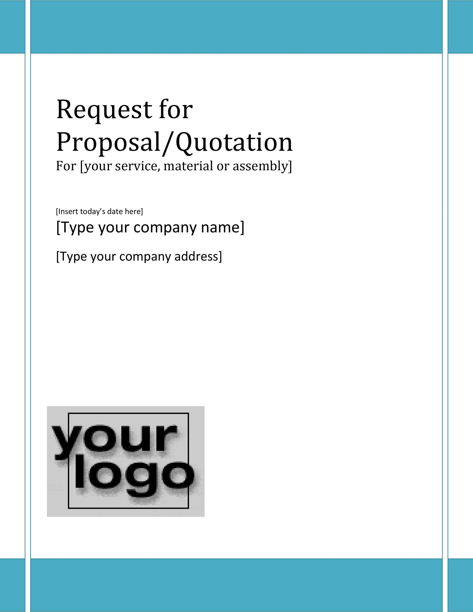 Free Request for Proposal Template 08
