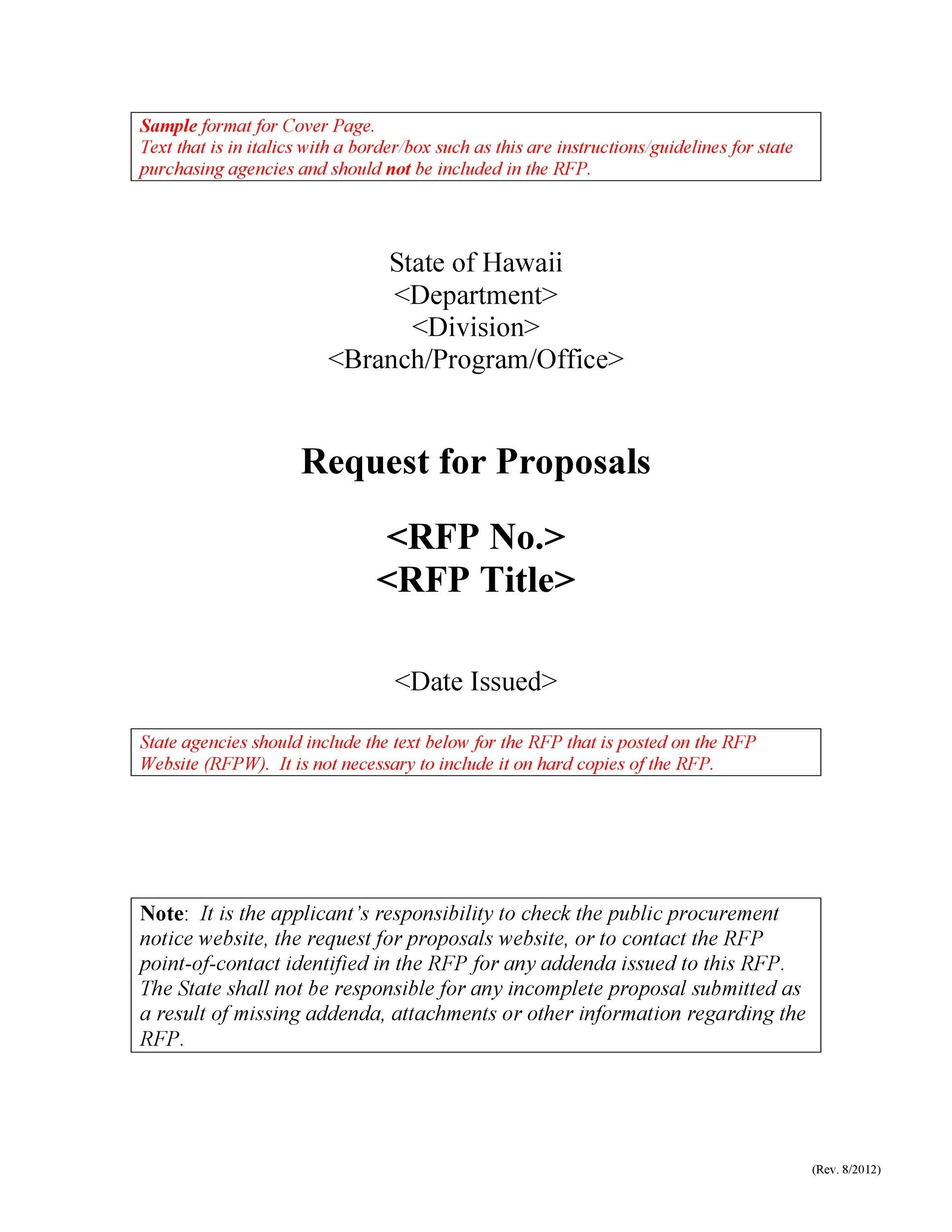 Free Request for Proposal Template 09