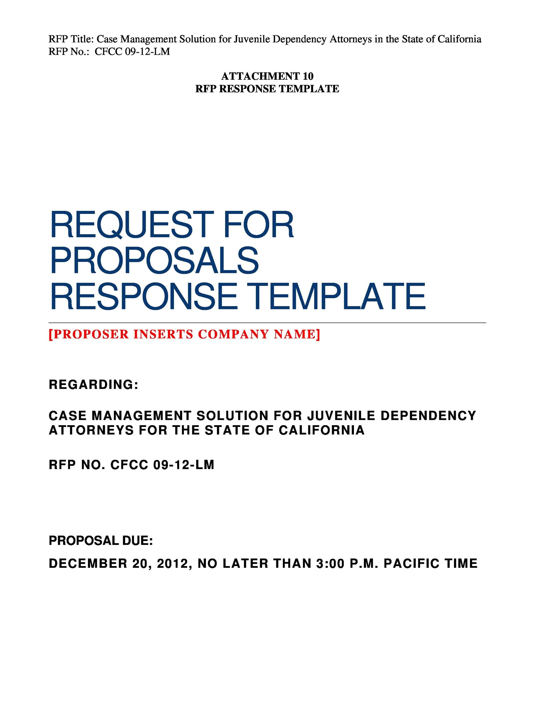 free request for proposal template 25