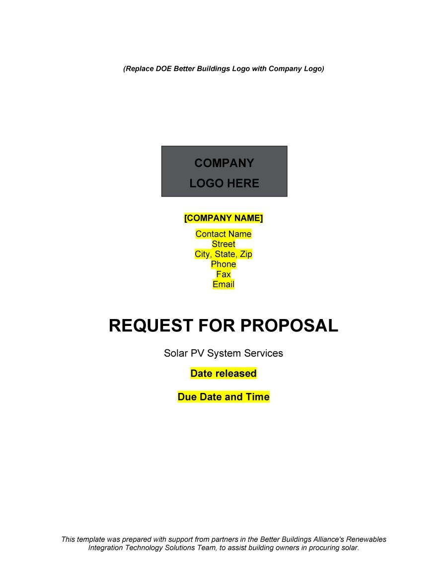 Free Request for Proposal Template 32