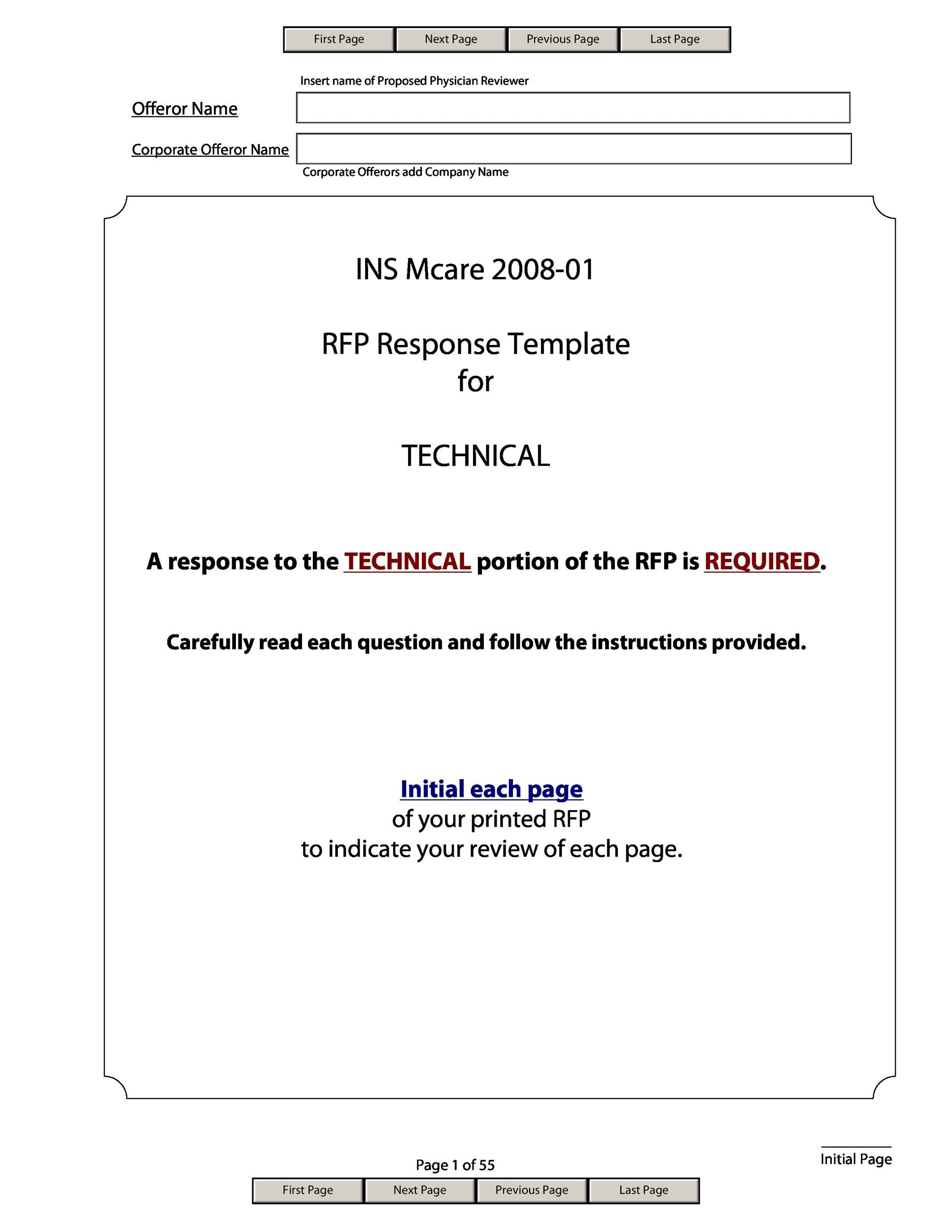 3pl rfp template - request for proposal template 34 template lab