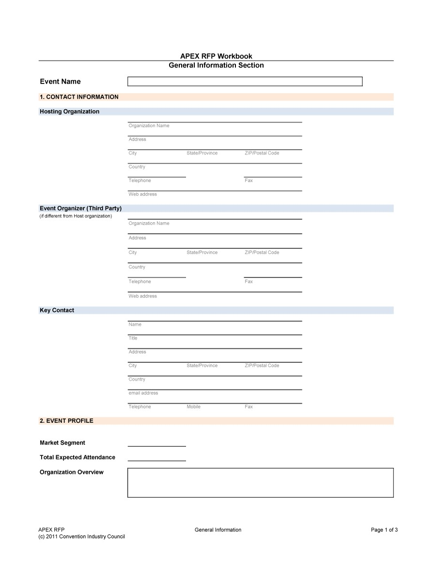Free Request for Proposal Template 39