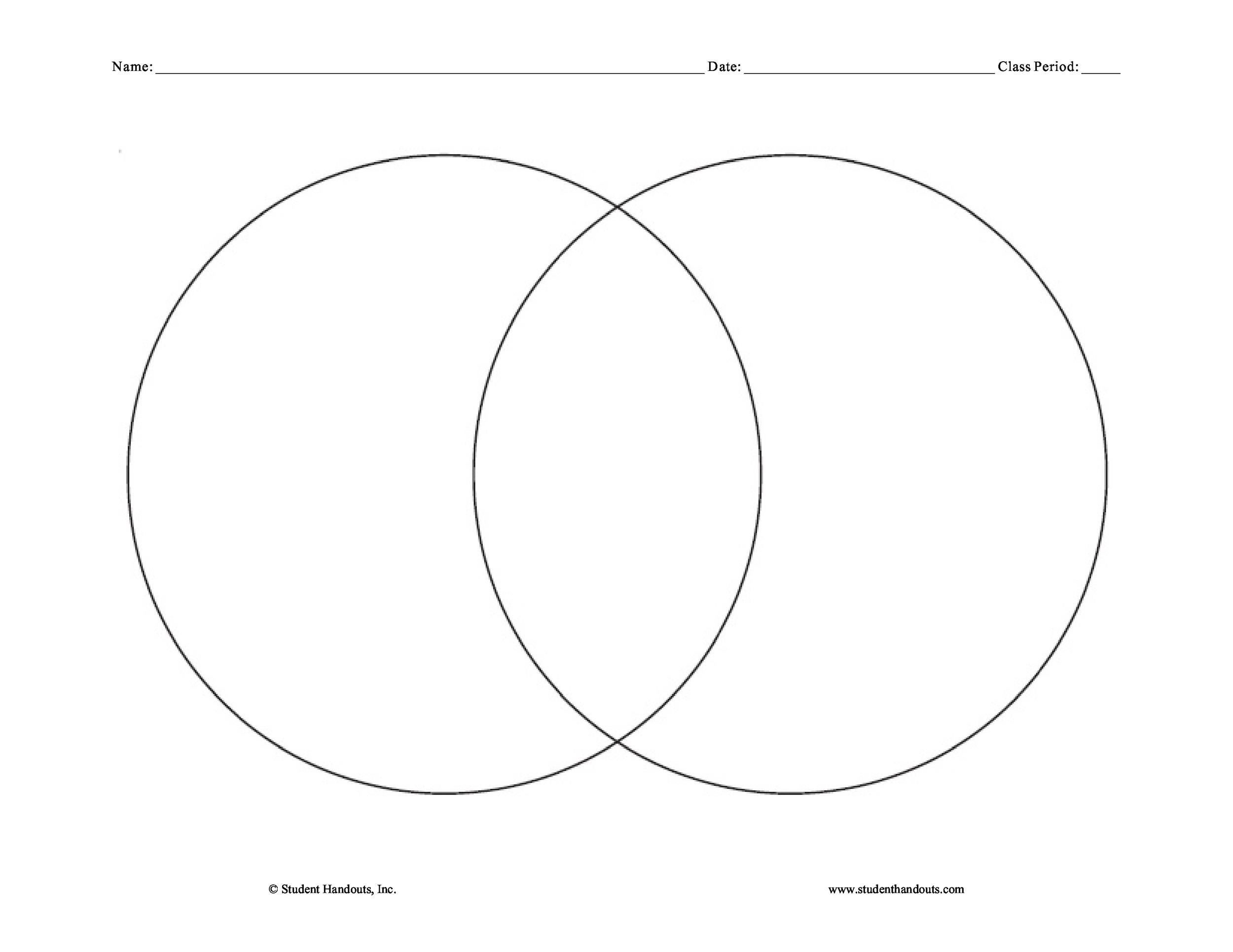 image regarding Printable Venn Diagrams With Lines named 40+ Cost-free Venn Diagram Templates (Phrase, PDF) ᐅ Template Lab