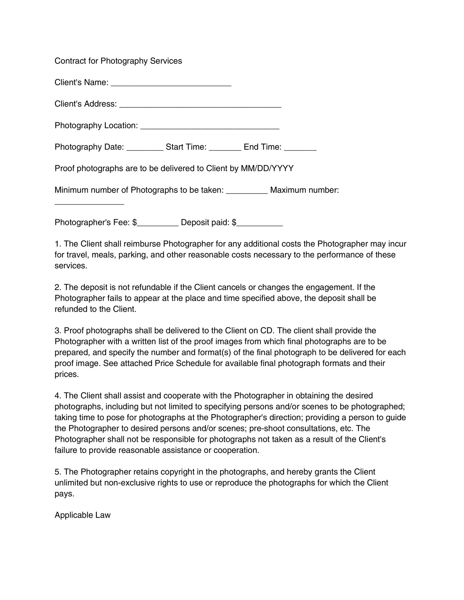Printable Contract Template 18