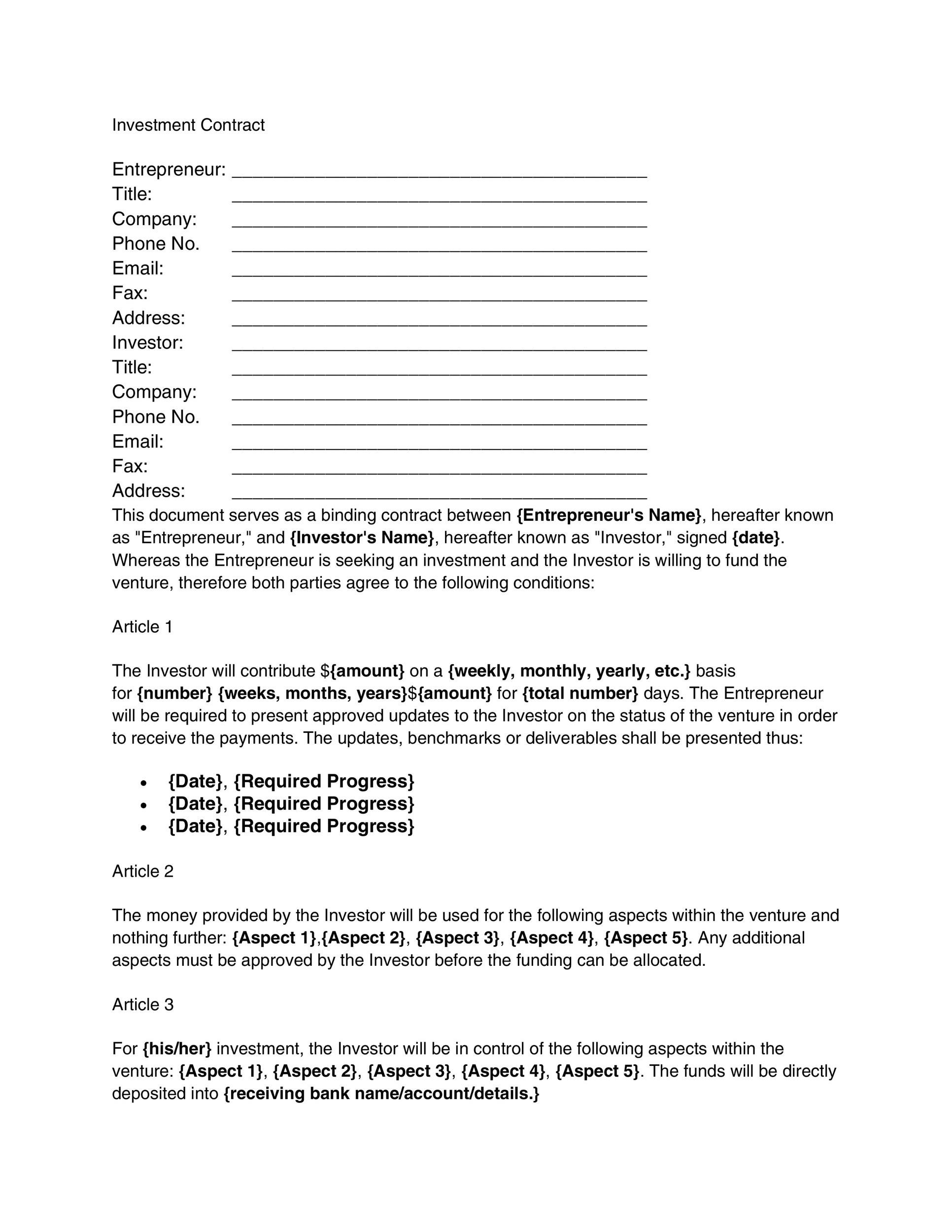Great Contract Templates Employment Construction Photography Etc - Company contract sample