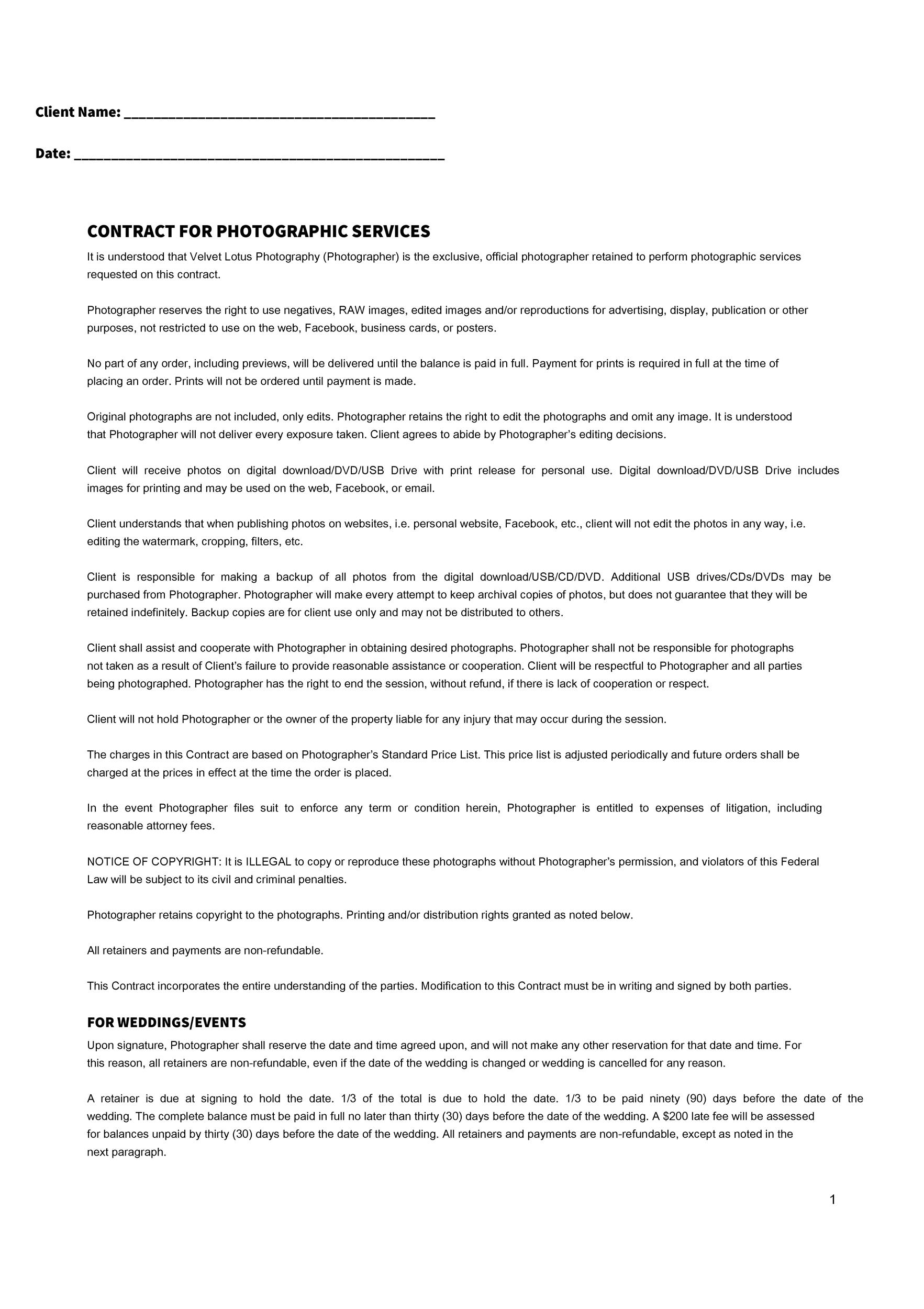40 Great Contract Templates (Employment, Construction, Photography