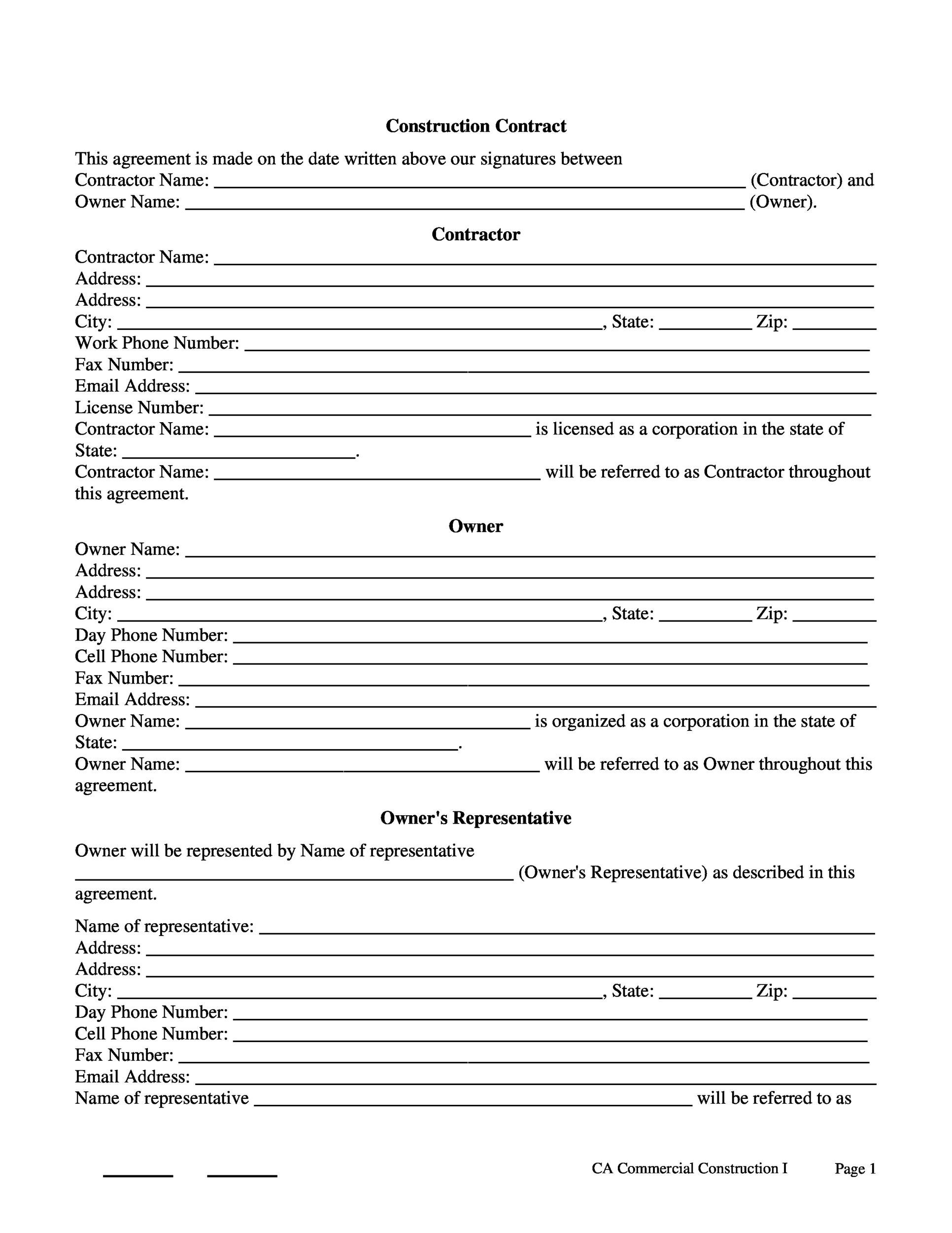 Free Contract Template 30
