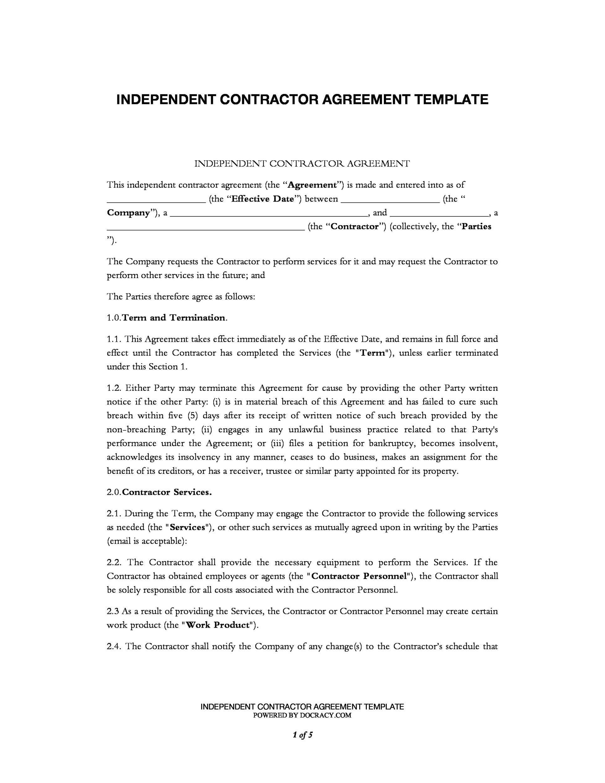 Contract Templates | 40 Great Contract Templates Employment Construction Photography Etc