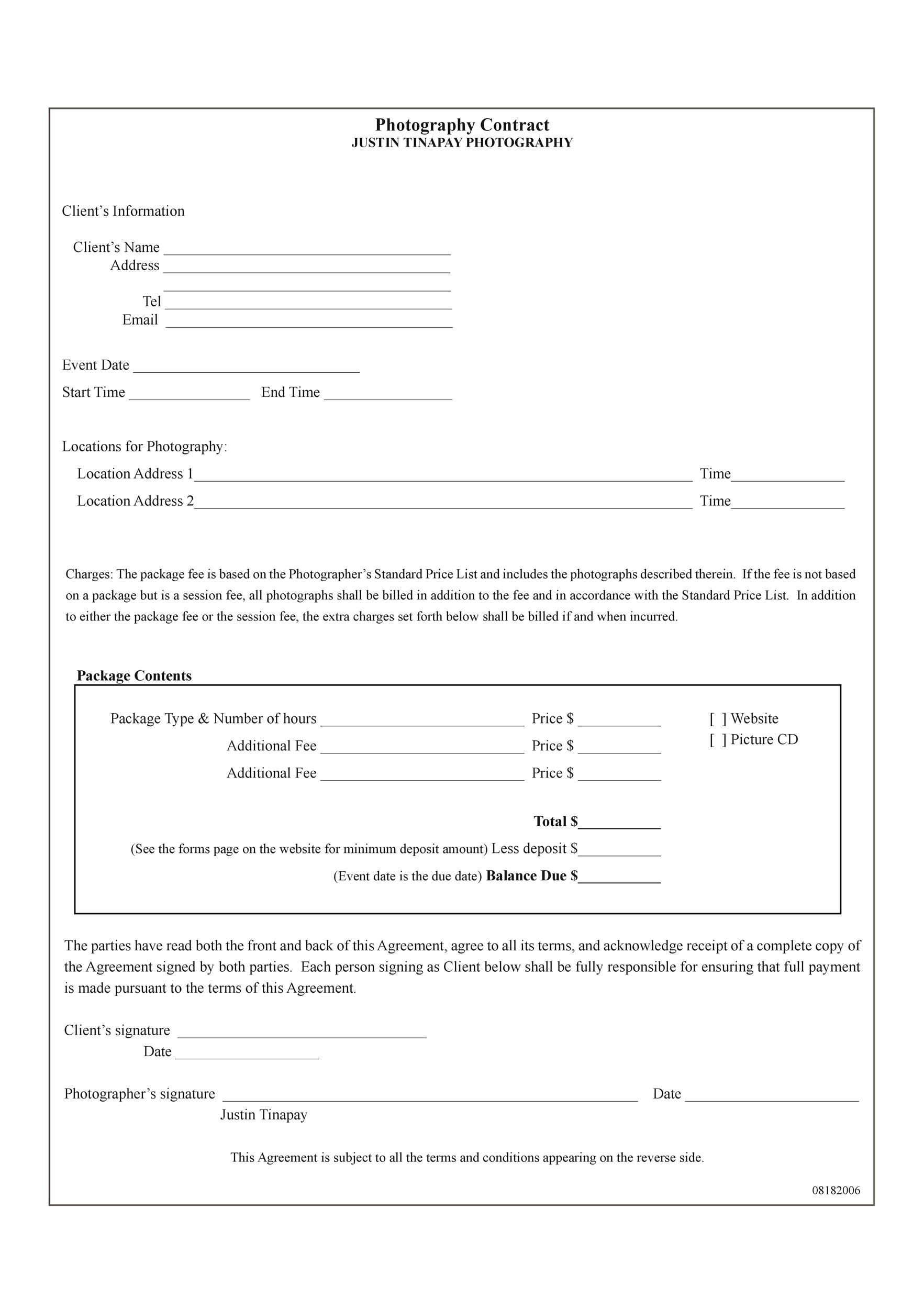 Free Contract Template 36