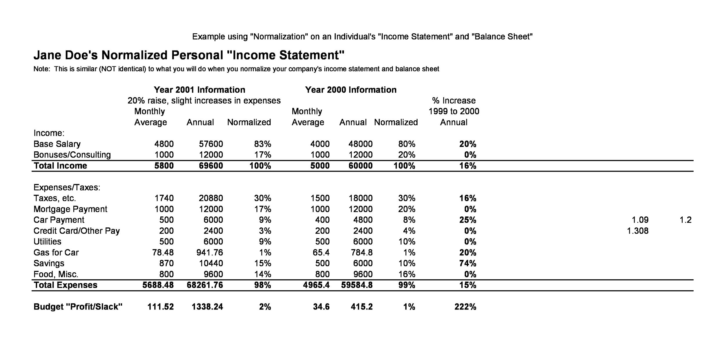 Free Income Statement Template 07