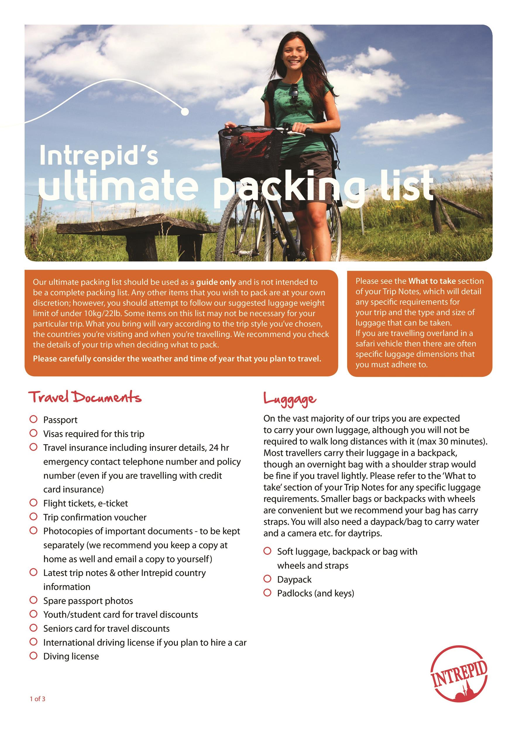 Free Packing List Template 24