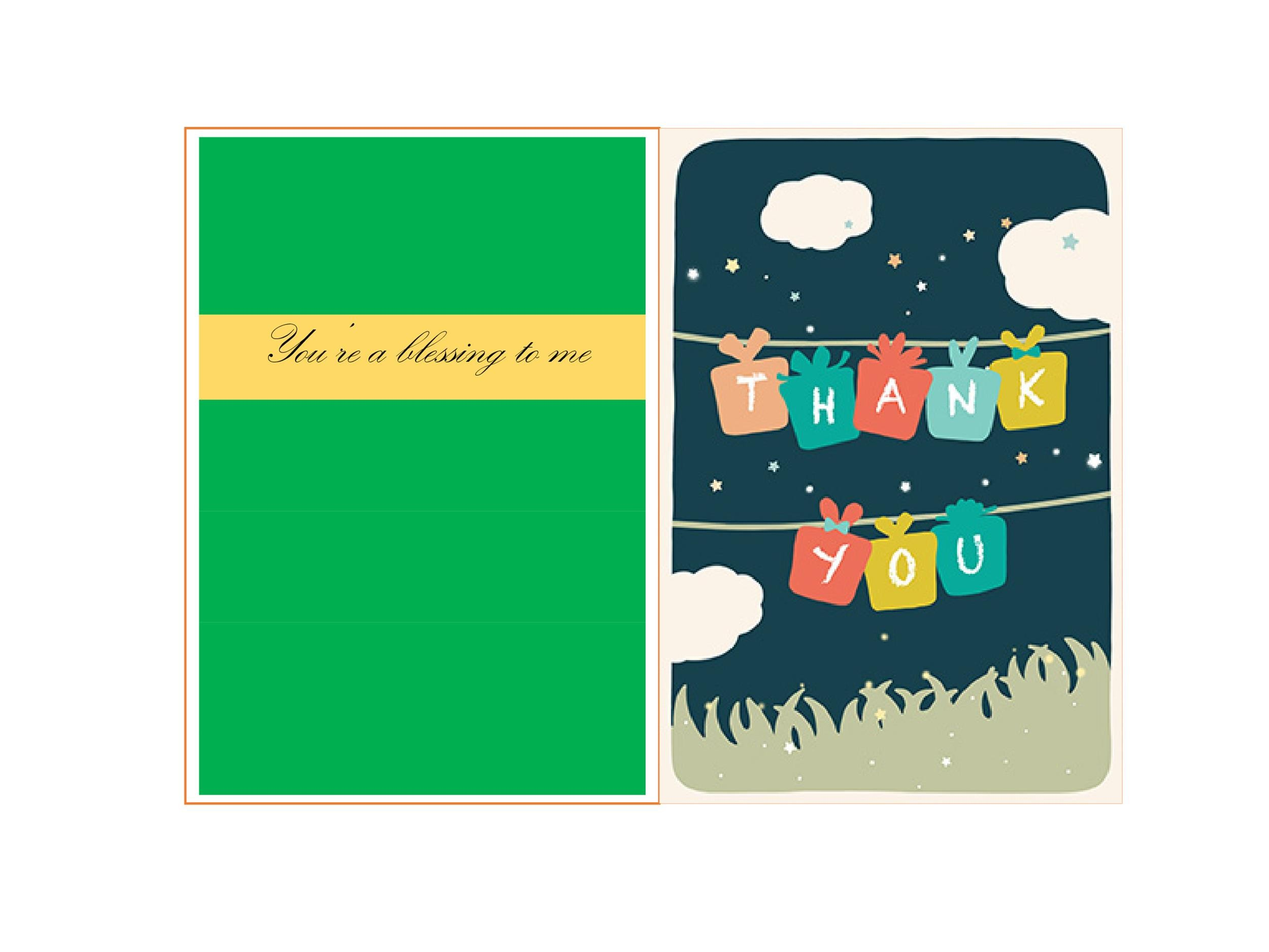 Free Thank You Card Template 01