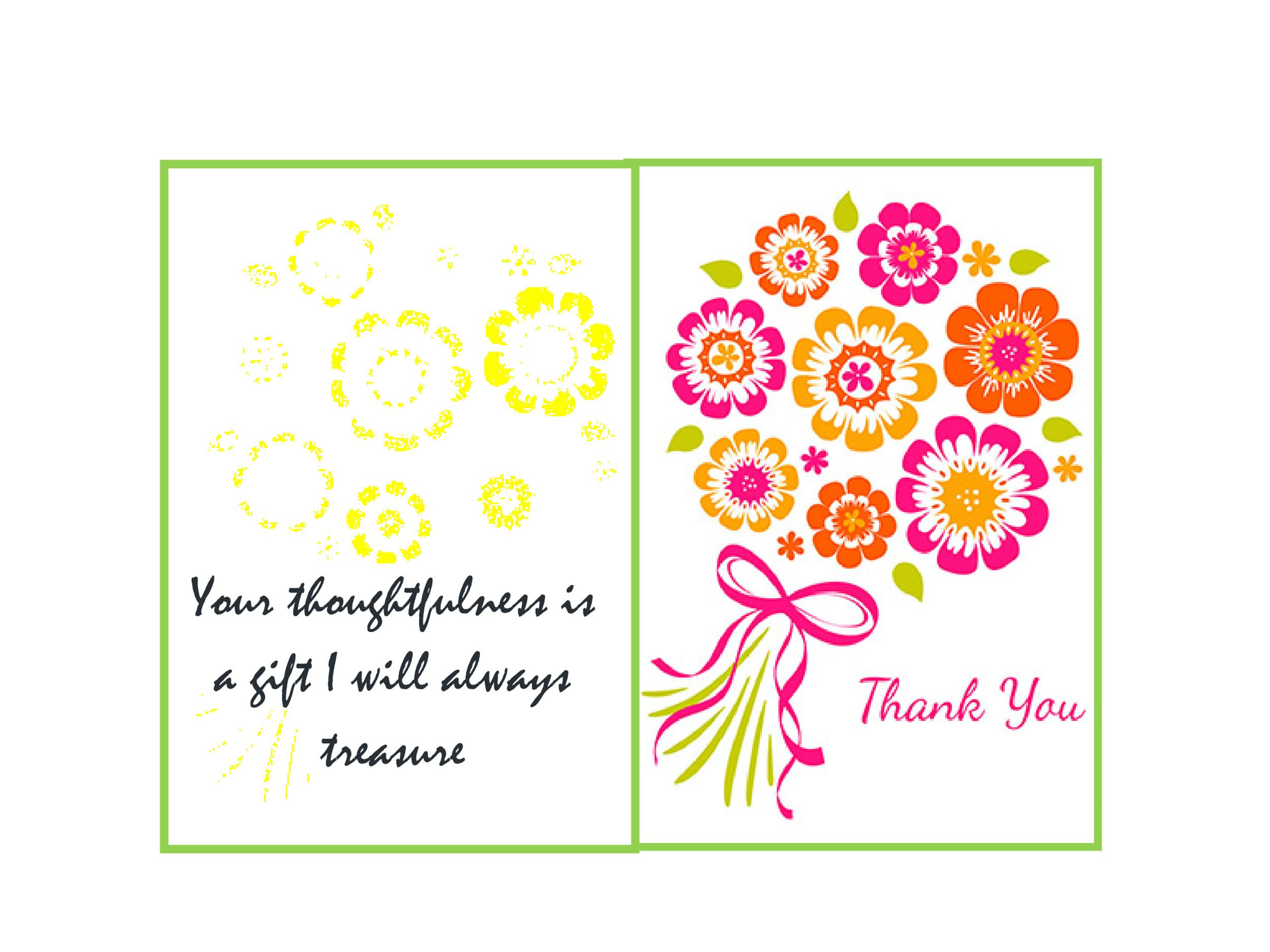 Wonderful Free Thank You Card Template 02