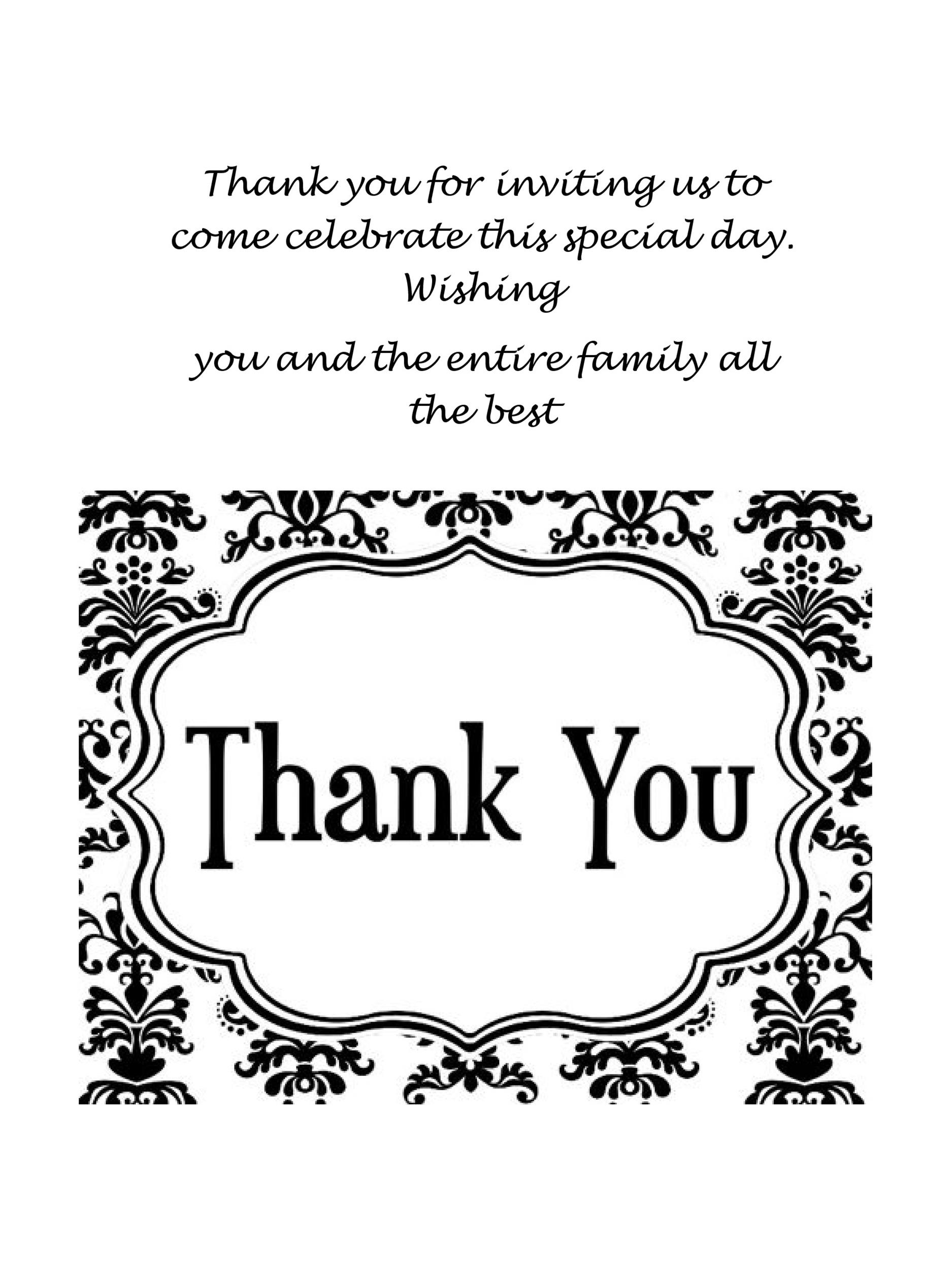 Beautiful Free Thank You Card Template 06