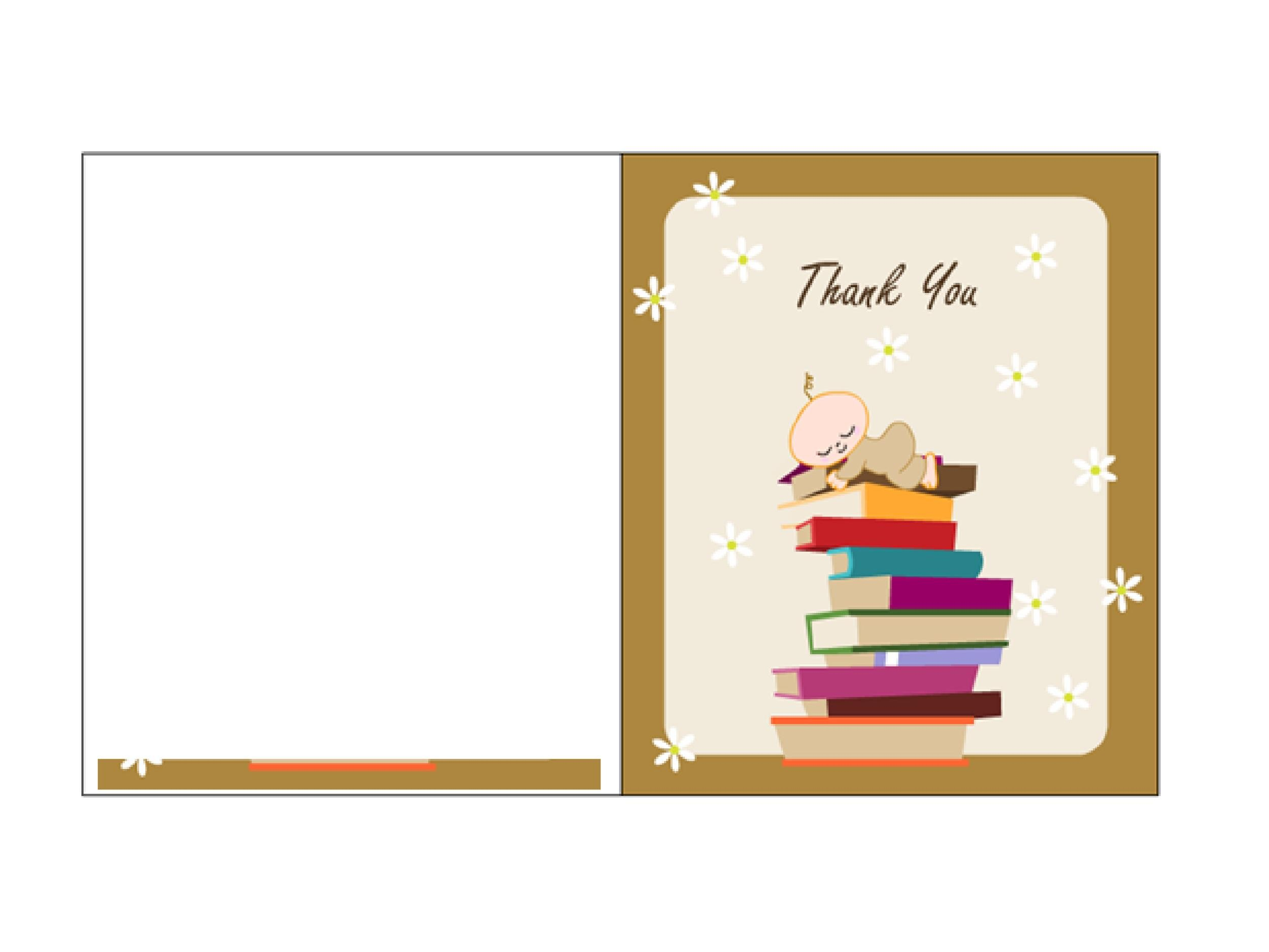 Free Thank You Card Template 07