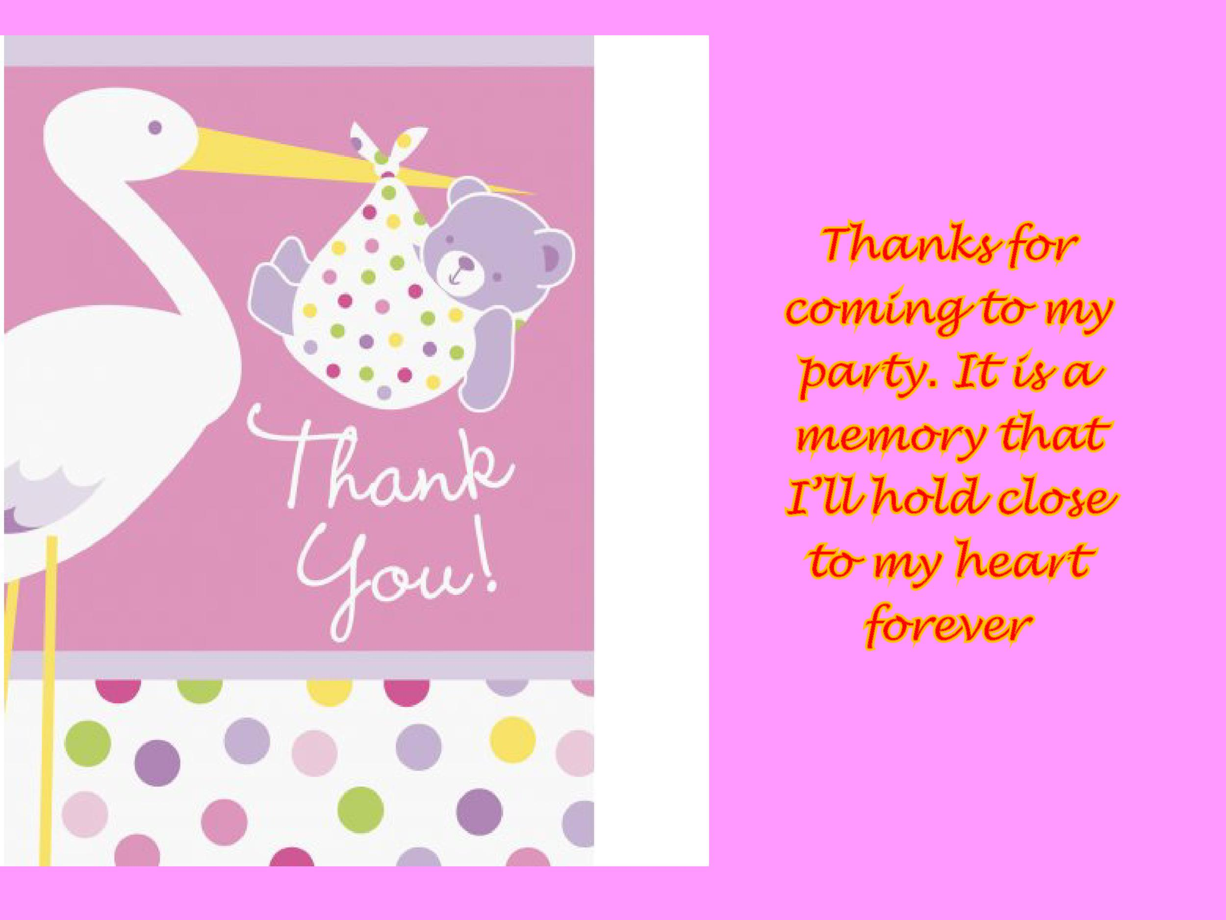 photograph regarding Printable Baby Shower Thank You Cards named 30+ No cost Printable Thank Your self Card Templates (Wedding day