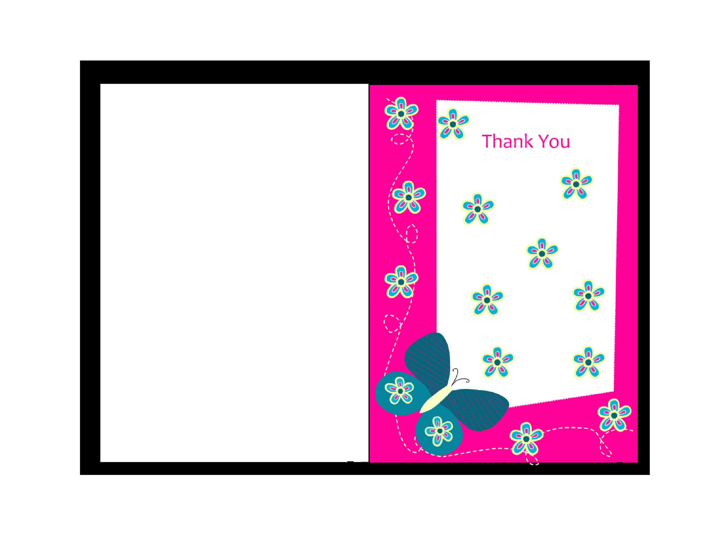 Unforgettable image pertaining to printable thank you card templates
