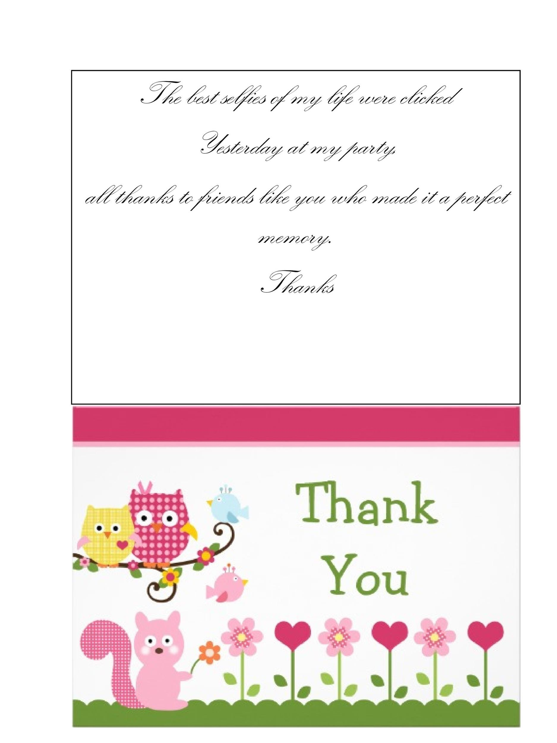 Free Printable Thank You Card Templates Wedding Graduation