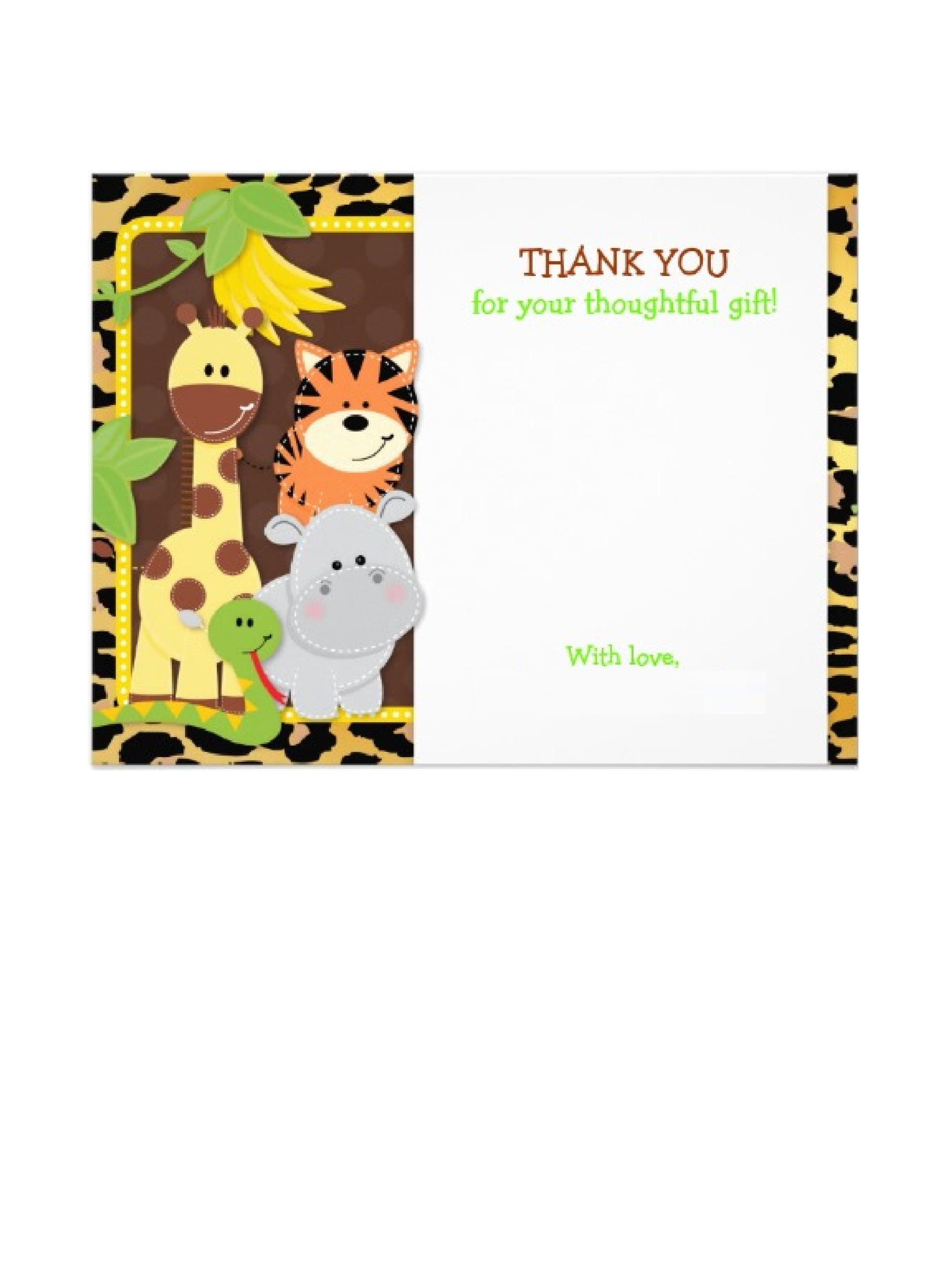 Free Thank You Card Template 12