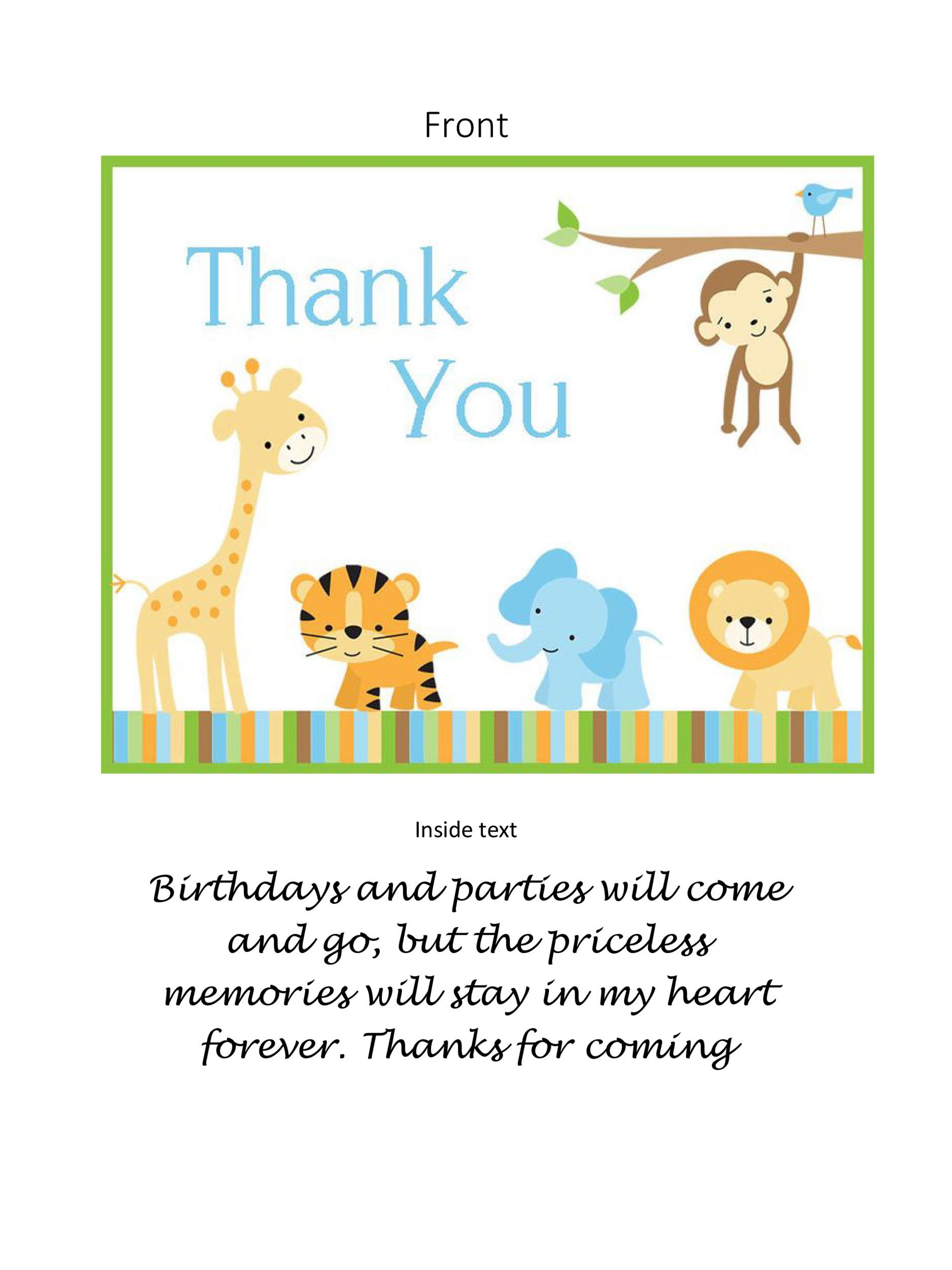 Free Thank You Card Template 13