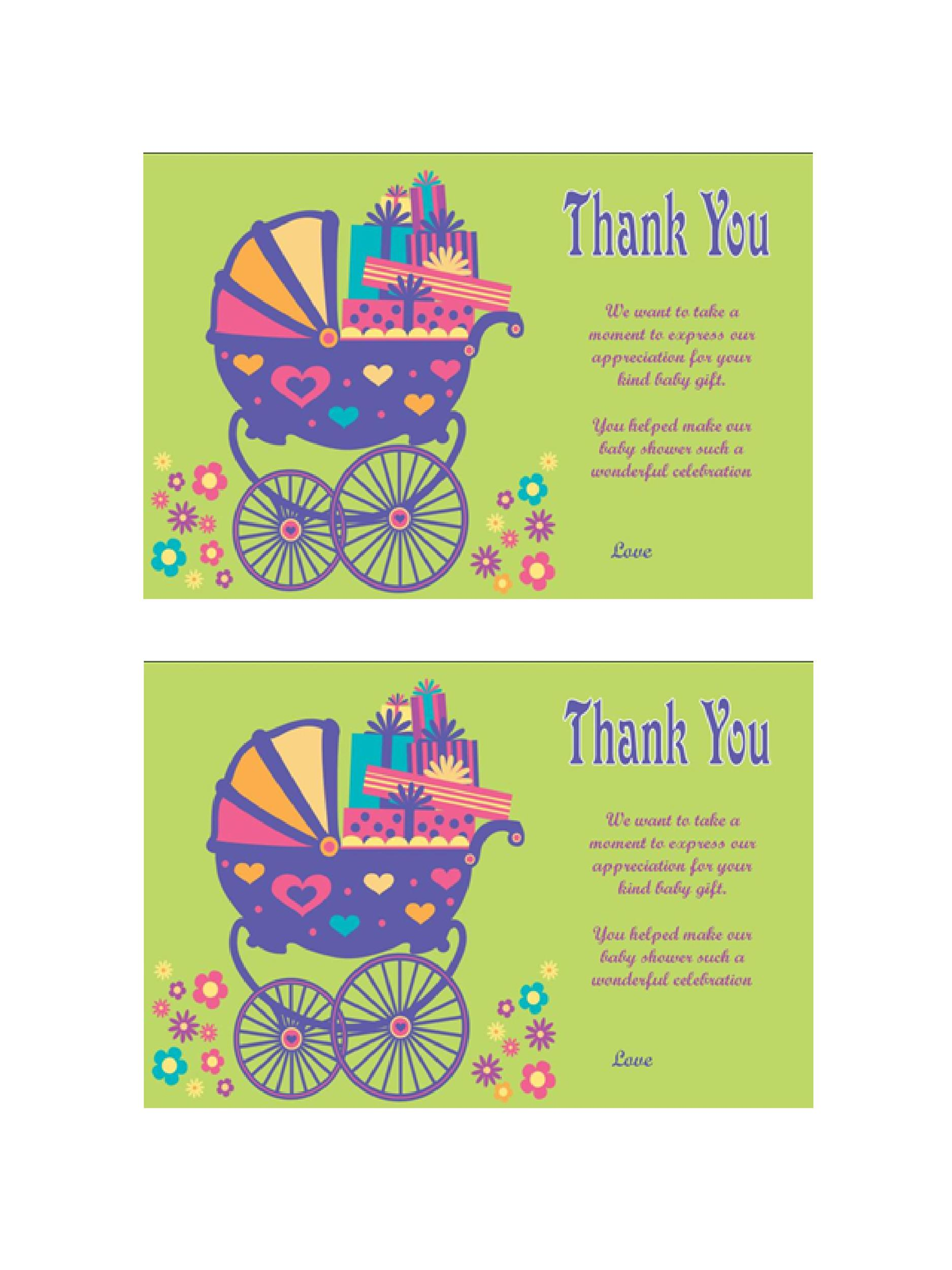 Free Thank You Card Template 14