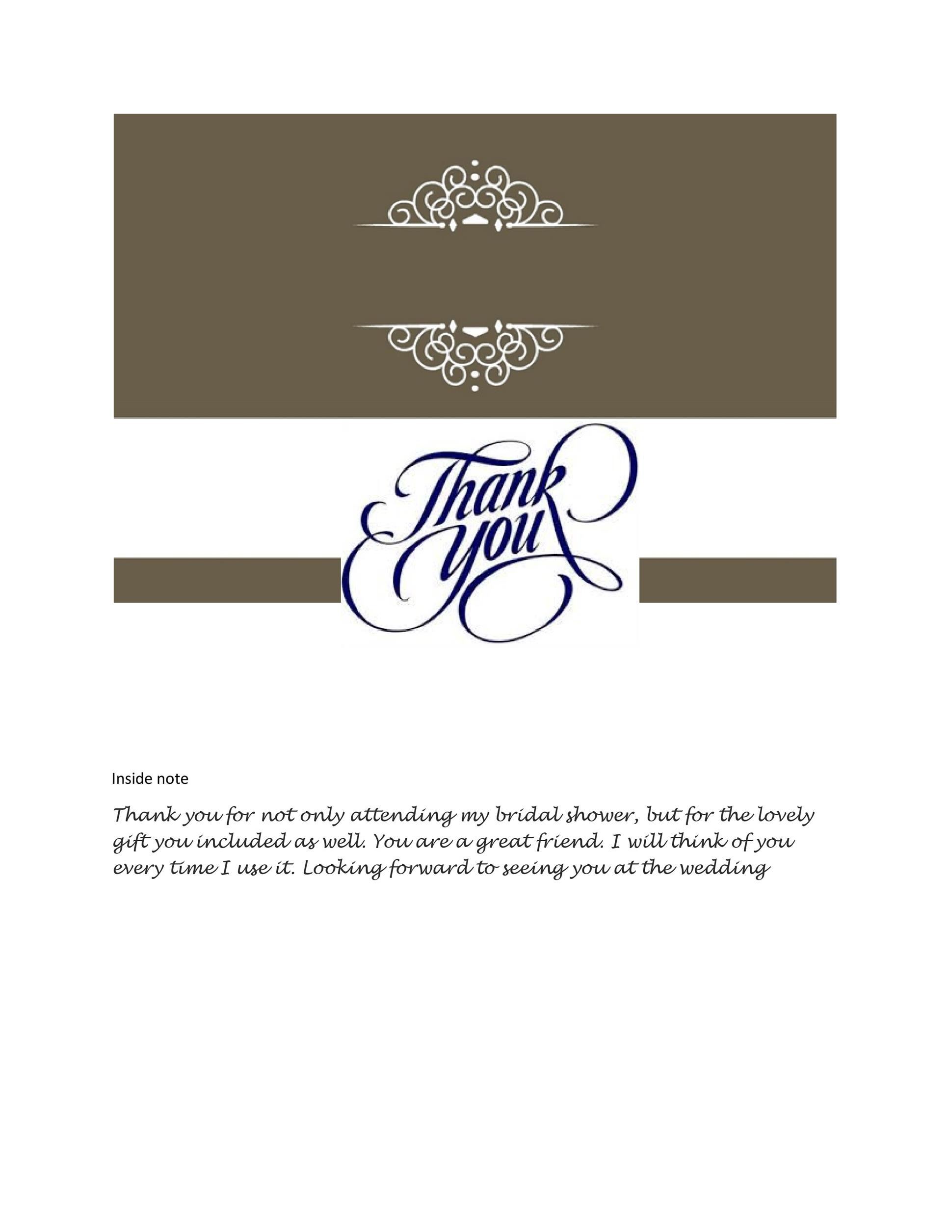 free thank you card template 15