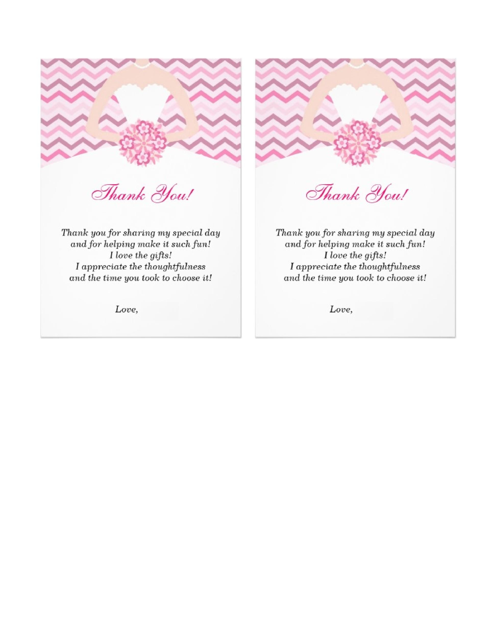 Free Thank You Card Template 16