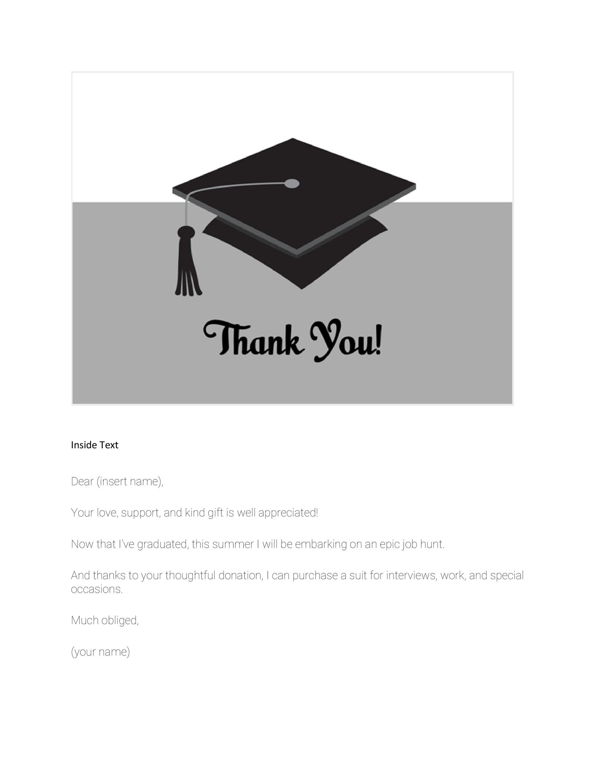 thank you cards graduation template by 30 free printable thank you card templates wedding - Graduation Thank You Cards