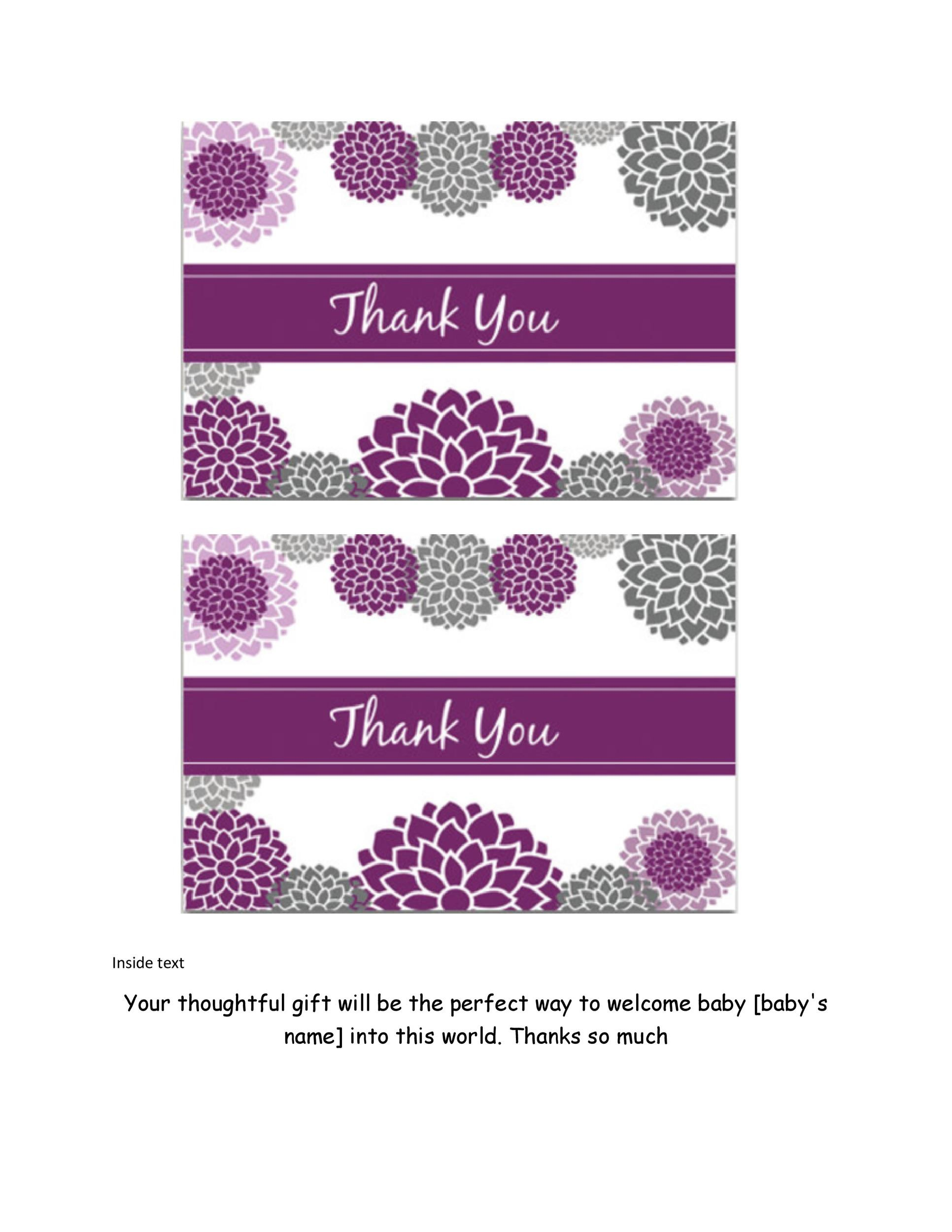 Free Thank You Card Template 25