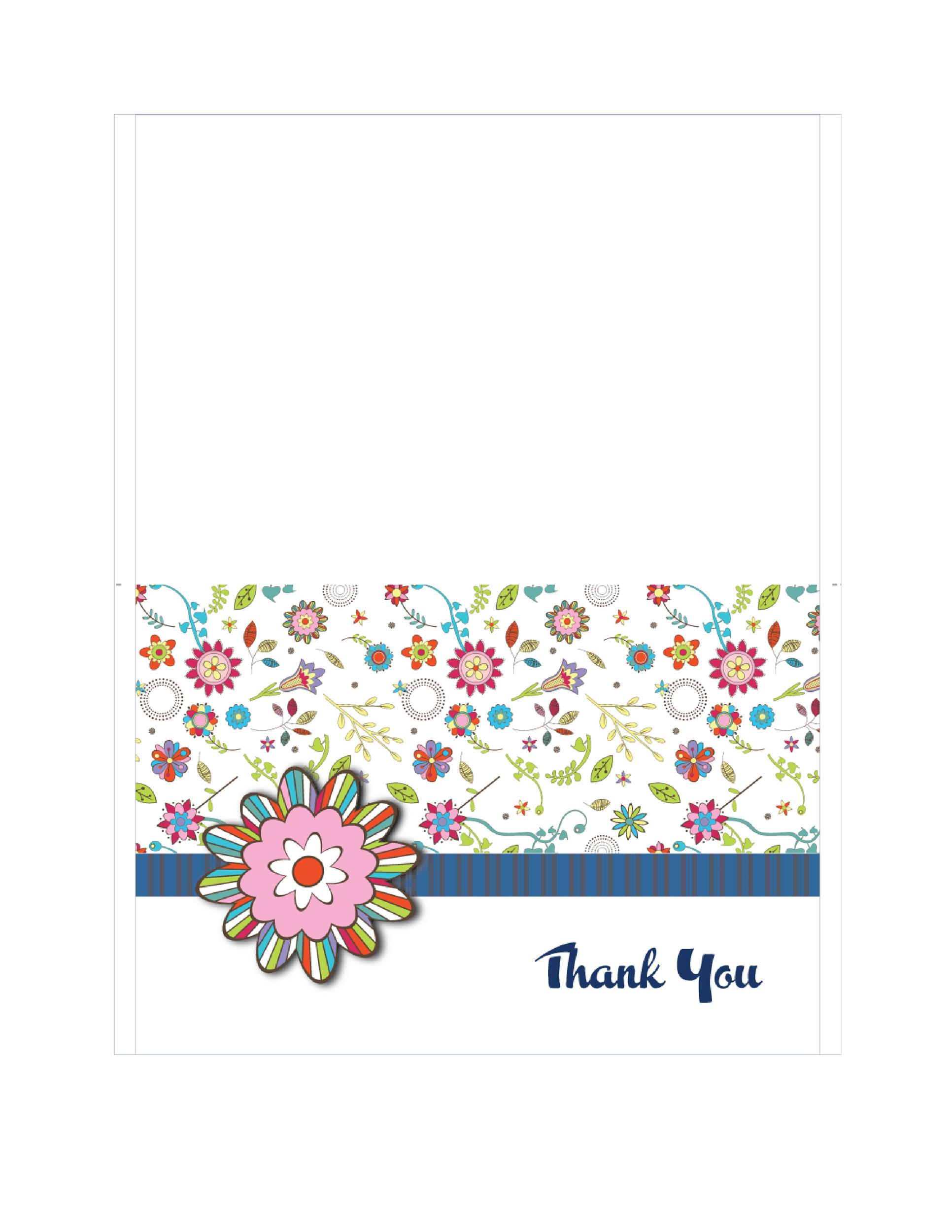 graphic regarding Free Printable Thank You Card Template known as 30+ No cost Printable Thank Your self Card Templates (Wedding day