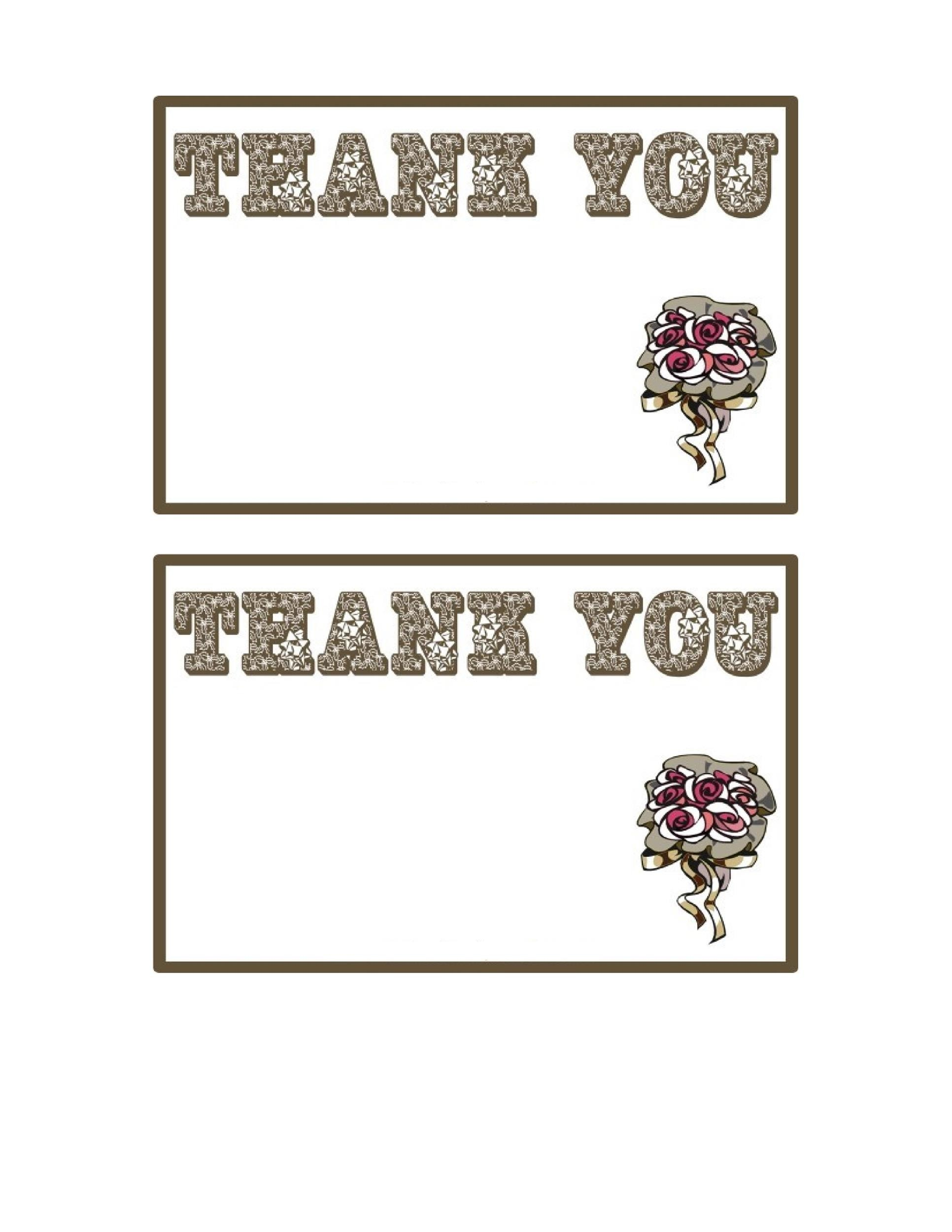 photograph regarding Free Printable Thank You Card Template called 30+ Totally free Printable Thank Your self Card Templates (Wedding ceremony