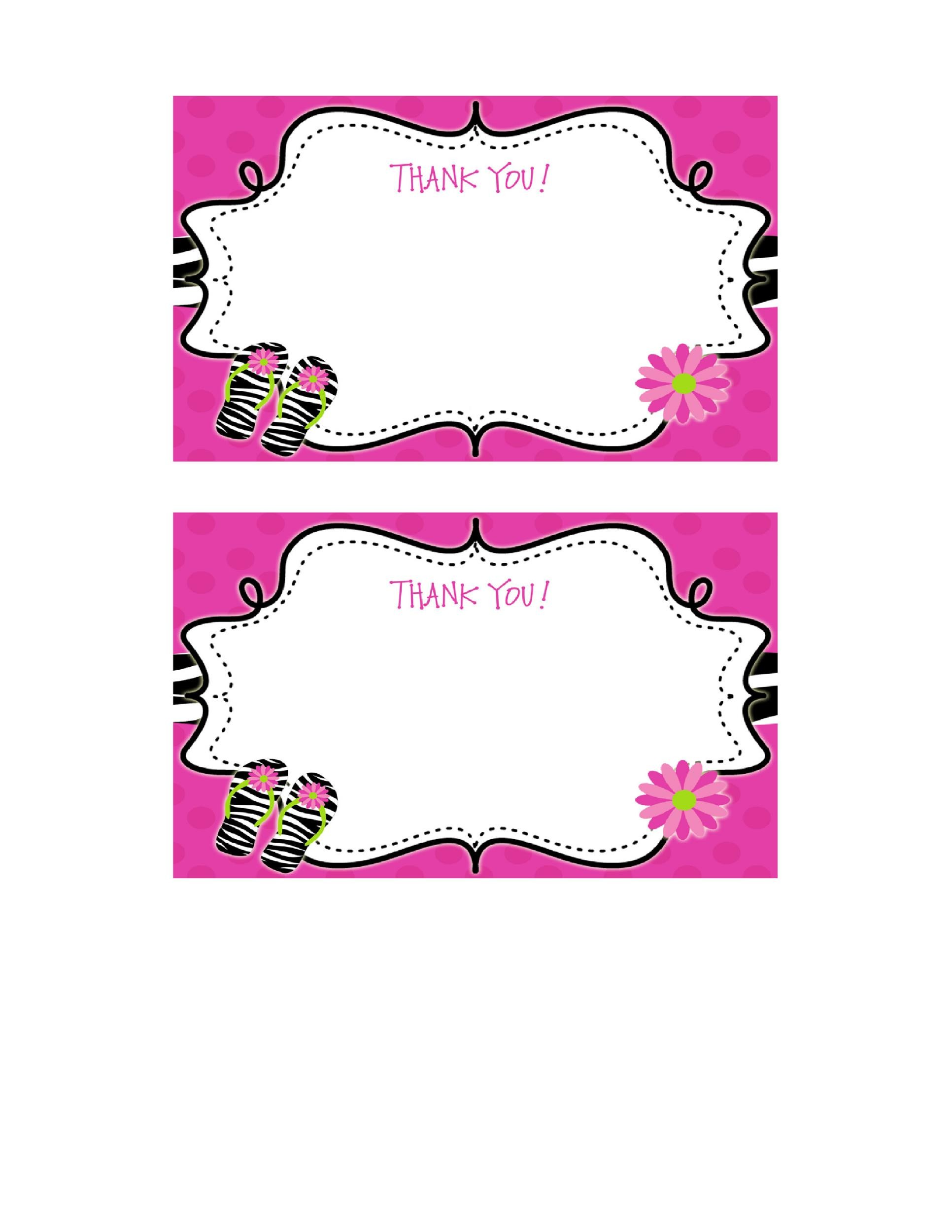 Free Thank You Card Template 28