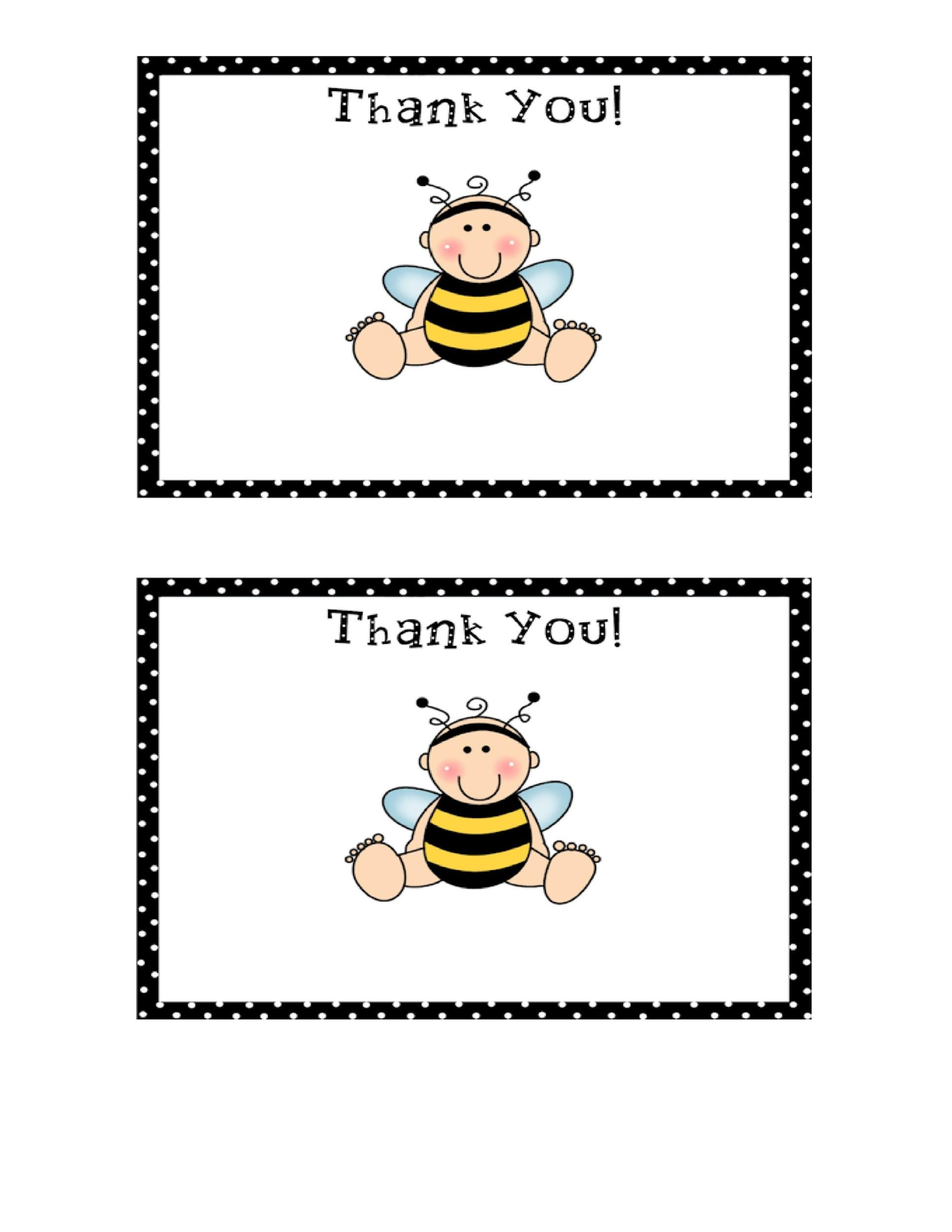 Free Thank You Card Template 29