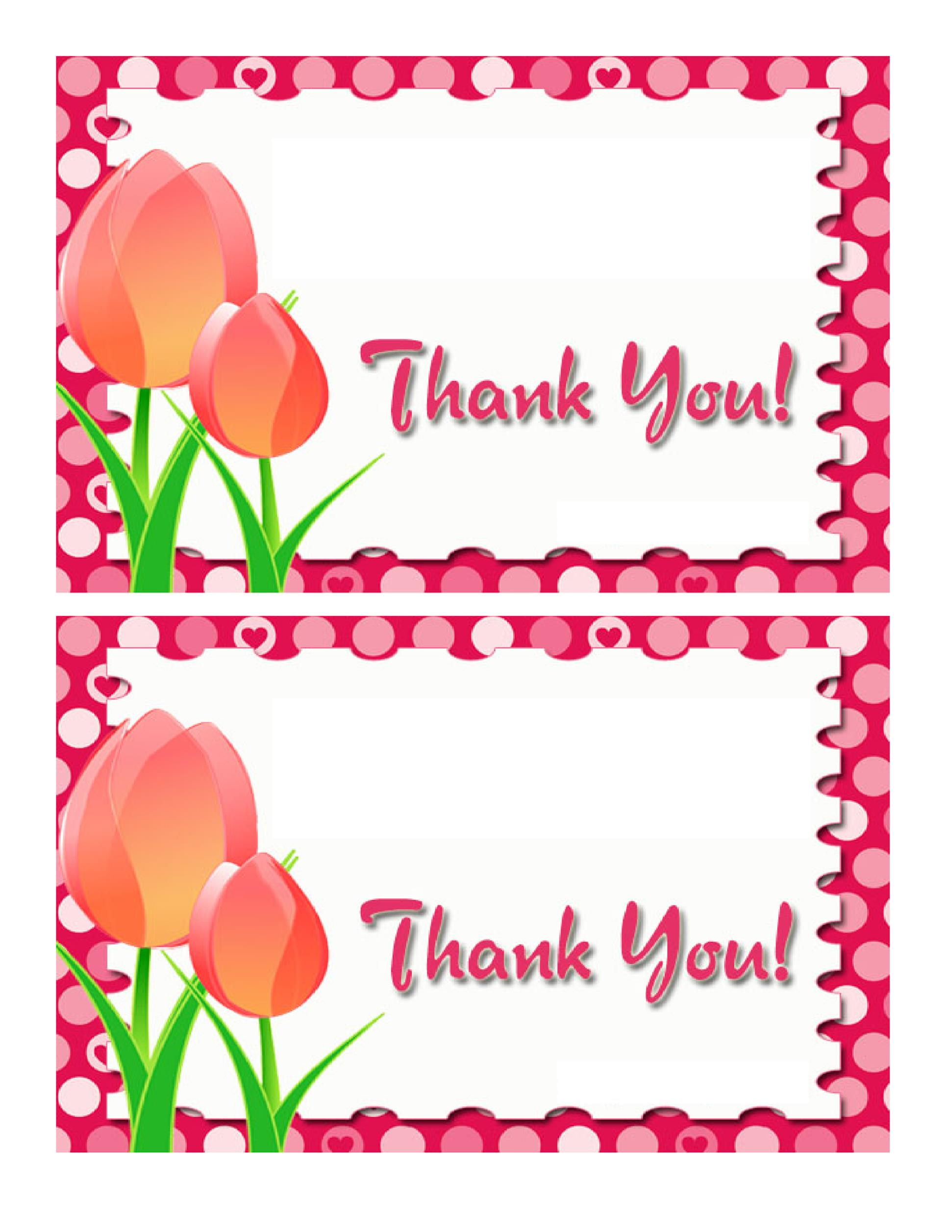 Free Thank You Card Template 30