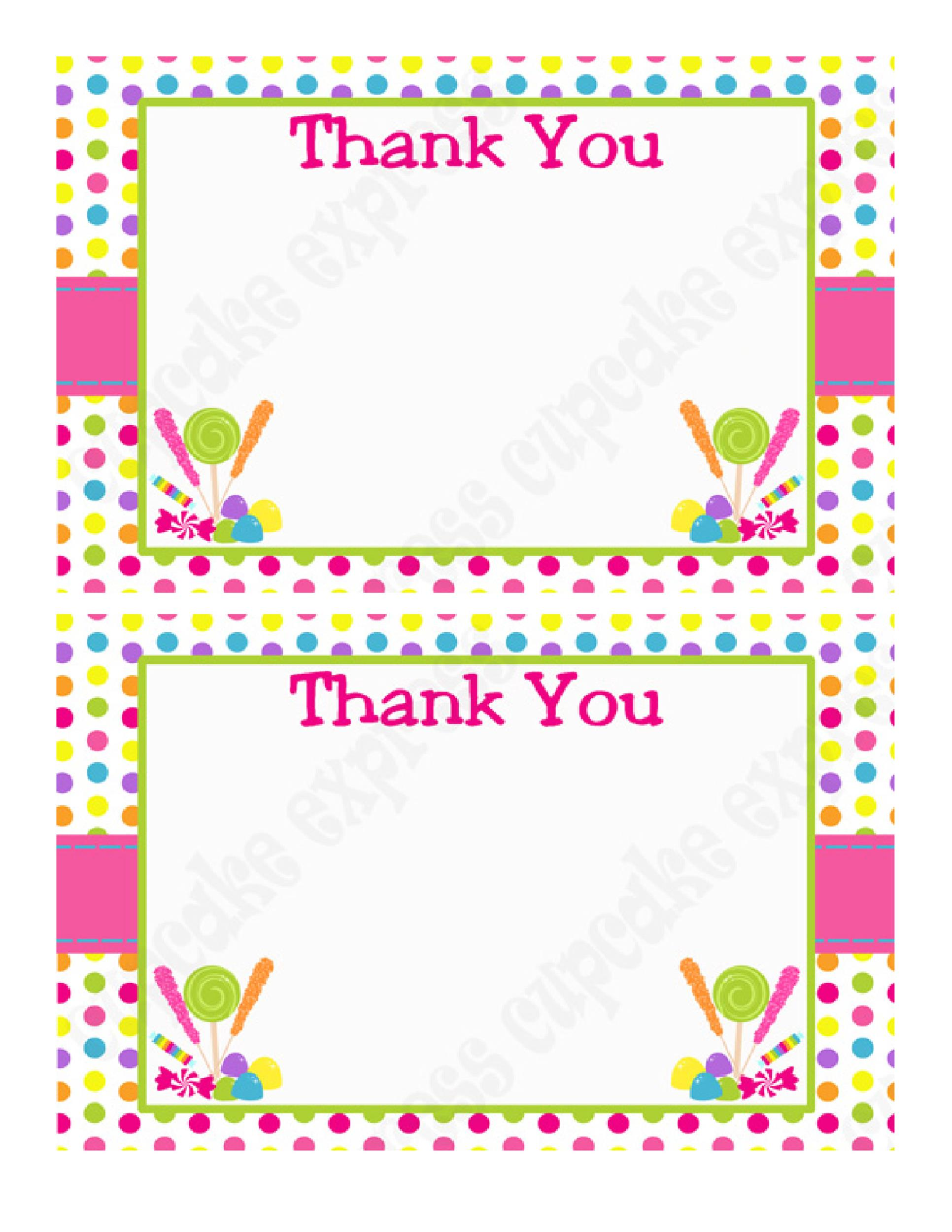 Awesome Free Thank You Card Template 31