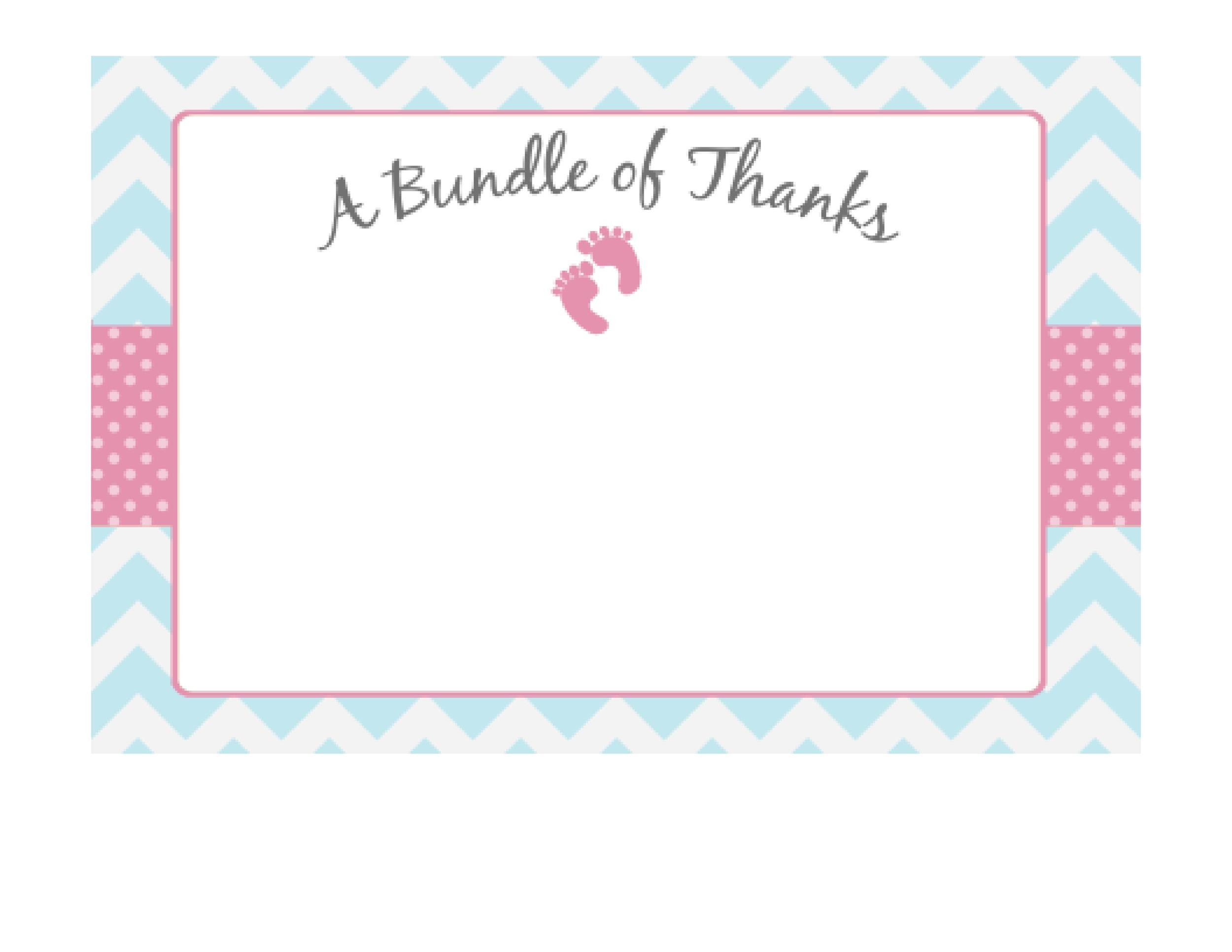 printable thank you card template instant download thank you