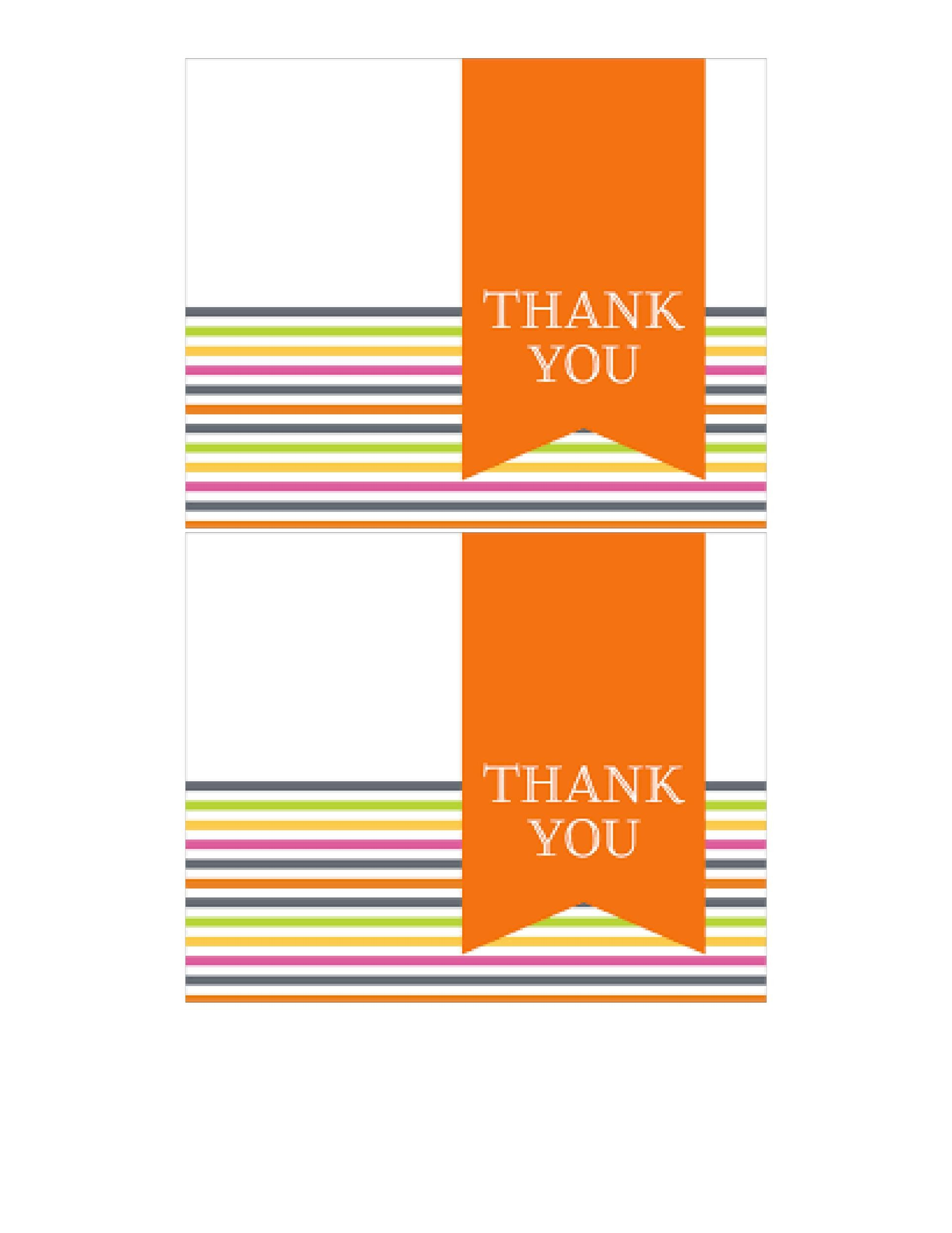 Free Thank You Card Template 34