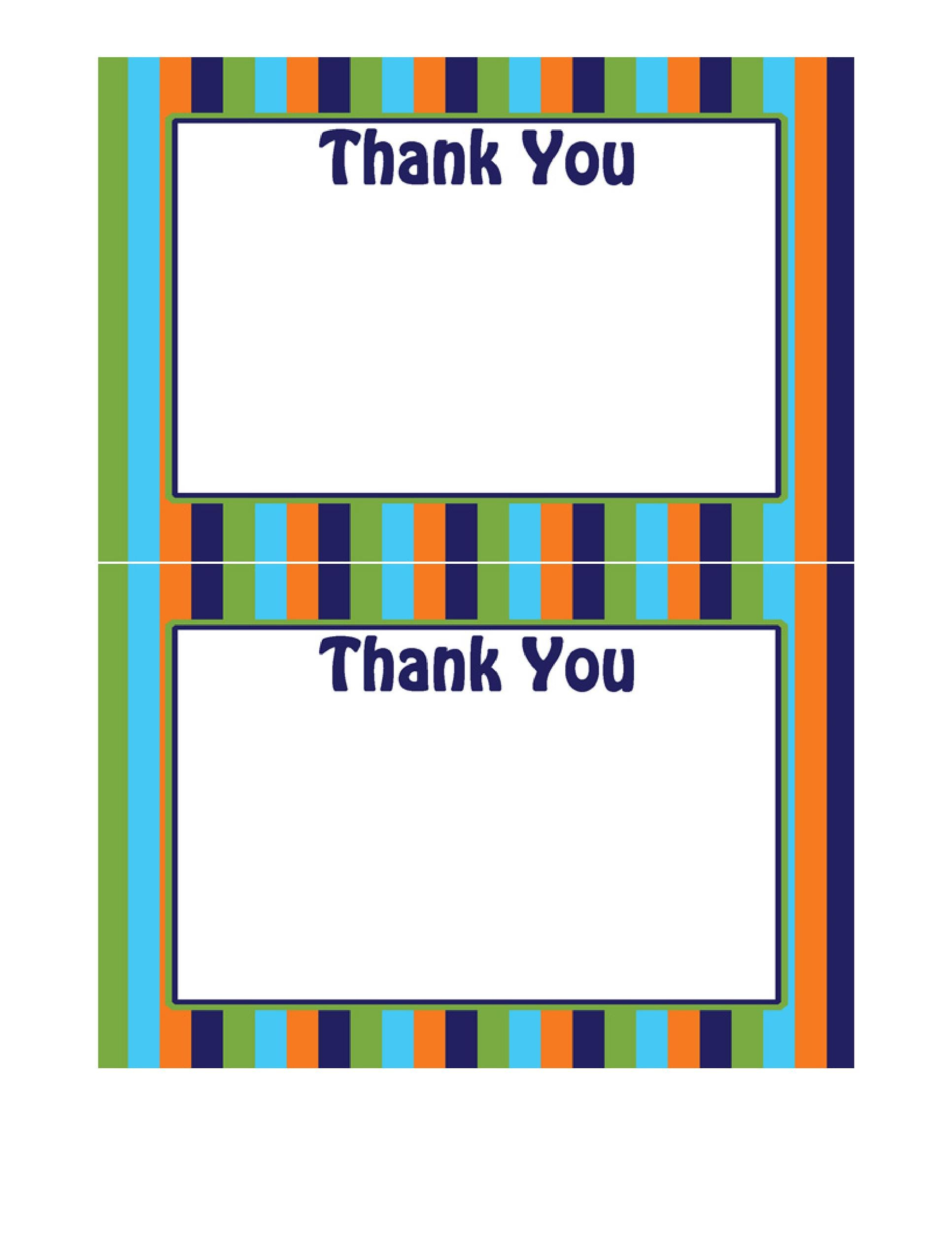 Free Thank You Card Template 35