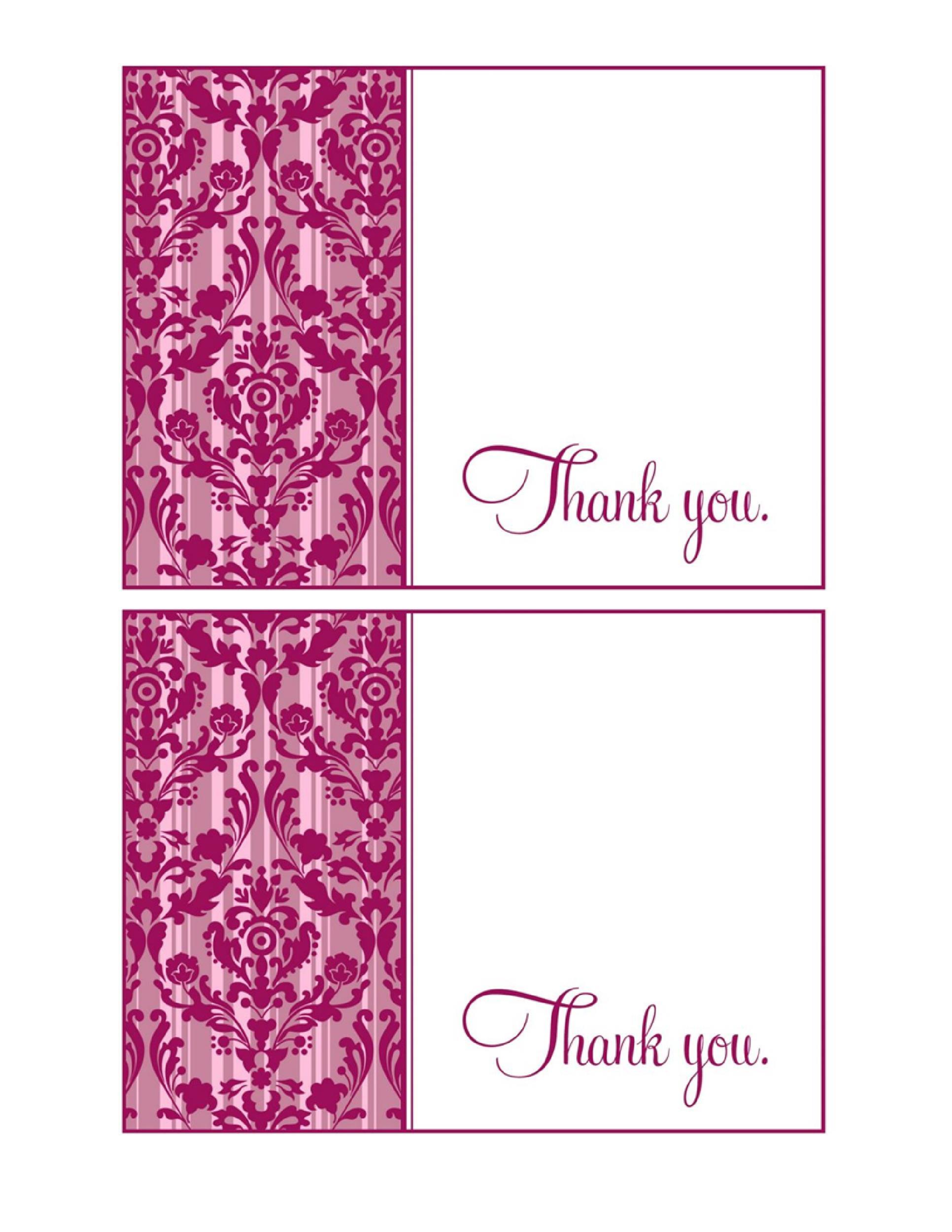 30+ Free Printable Thank You Card Templates (Wedding ...