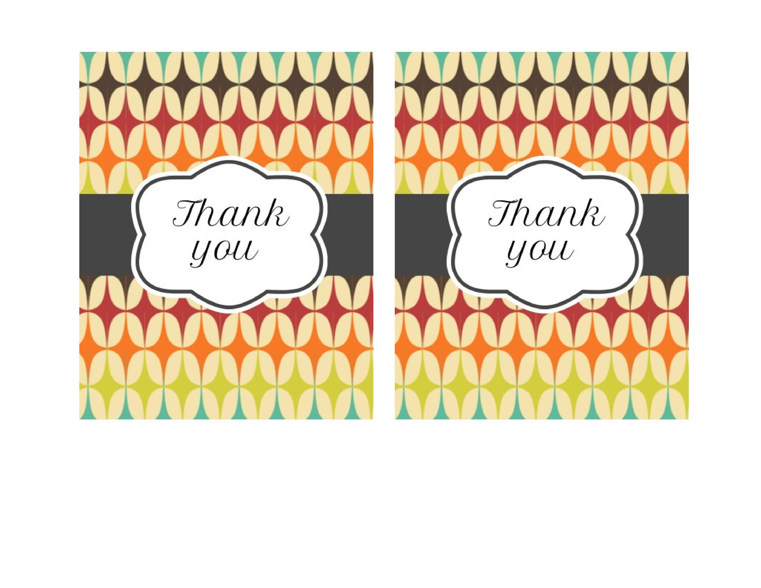 Free Thank You Card Template 37