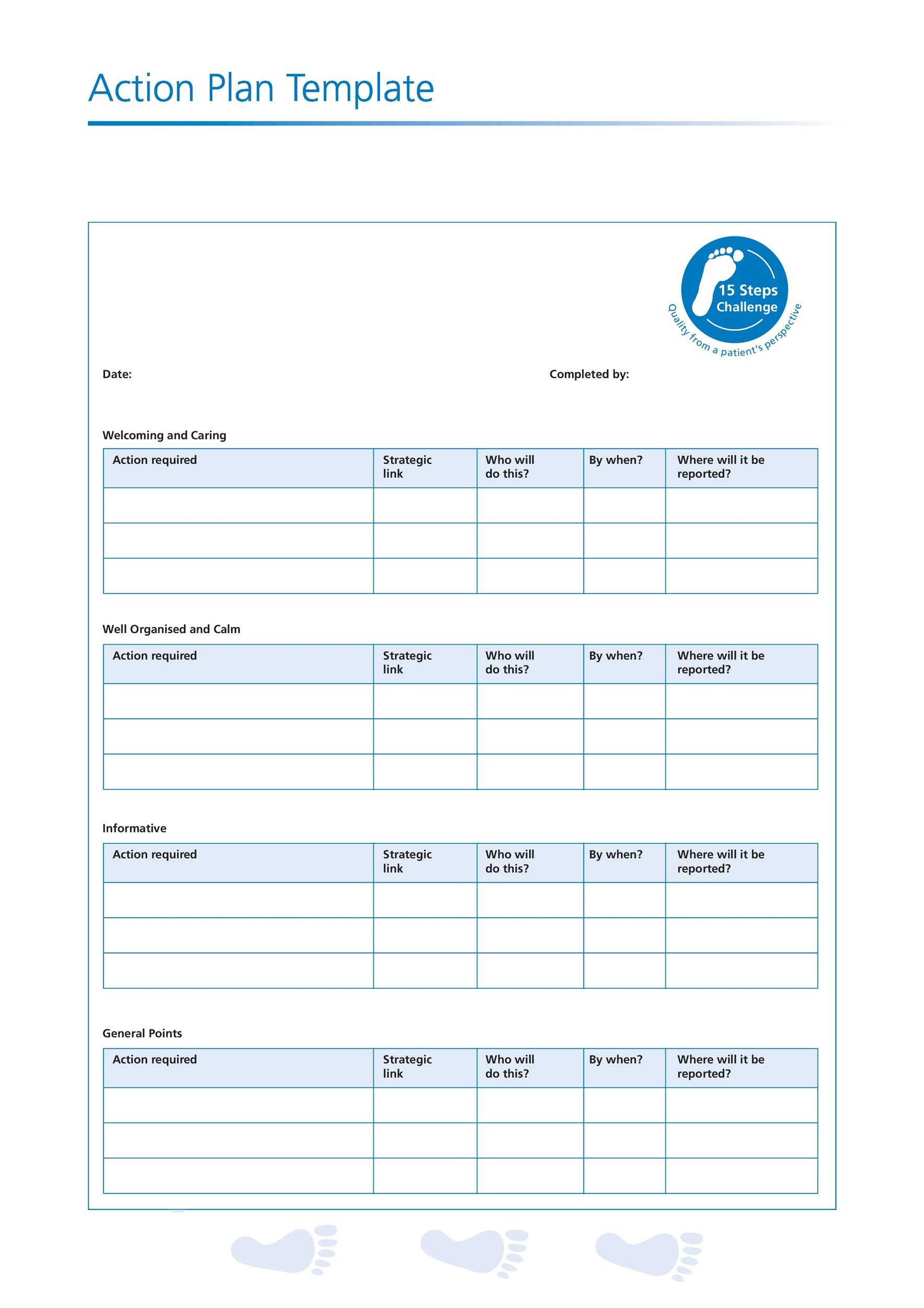 Action Plan Templates  Action Plan Templates Free