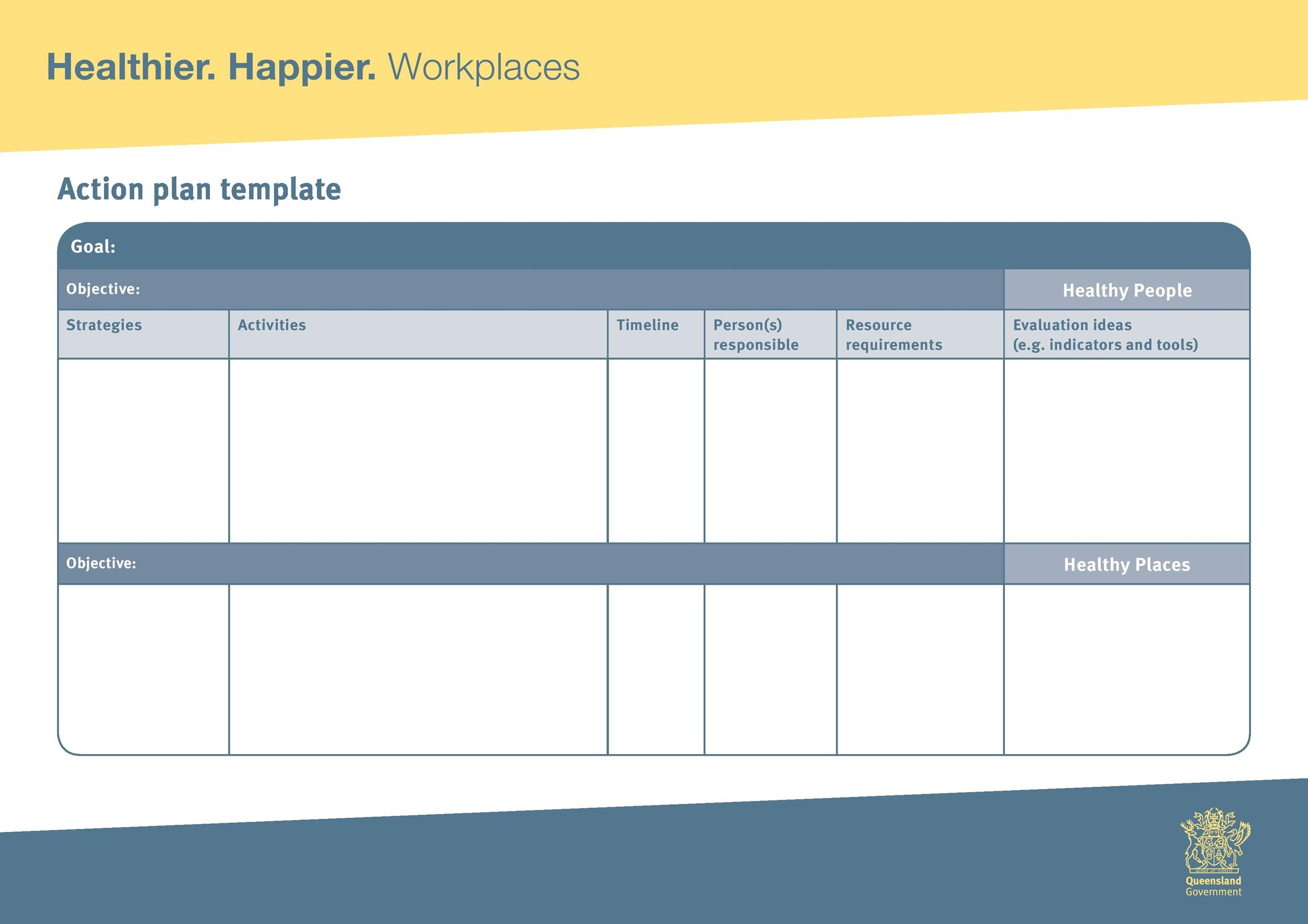 Free Action plan template 05