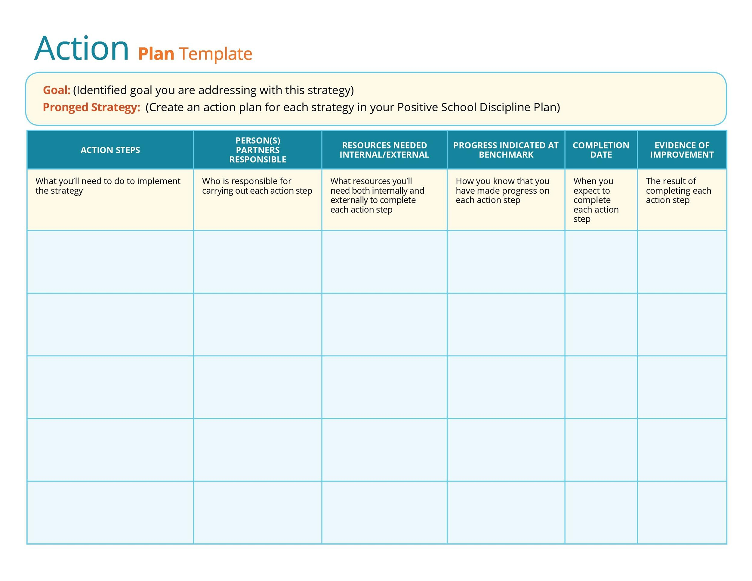 Free Action plan template 09